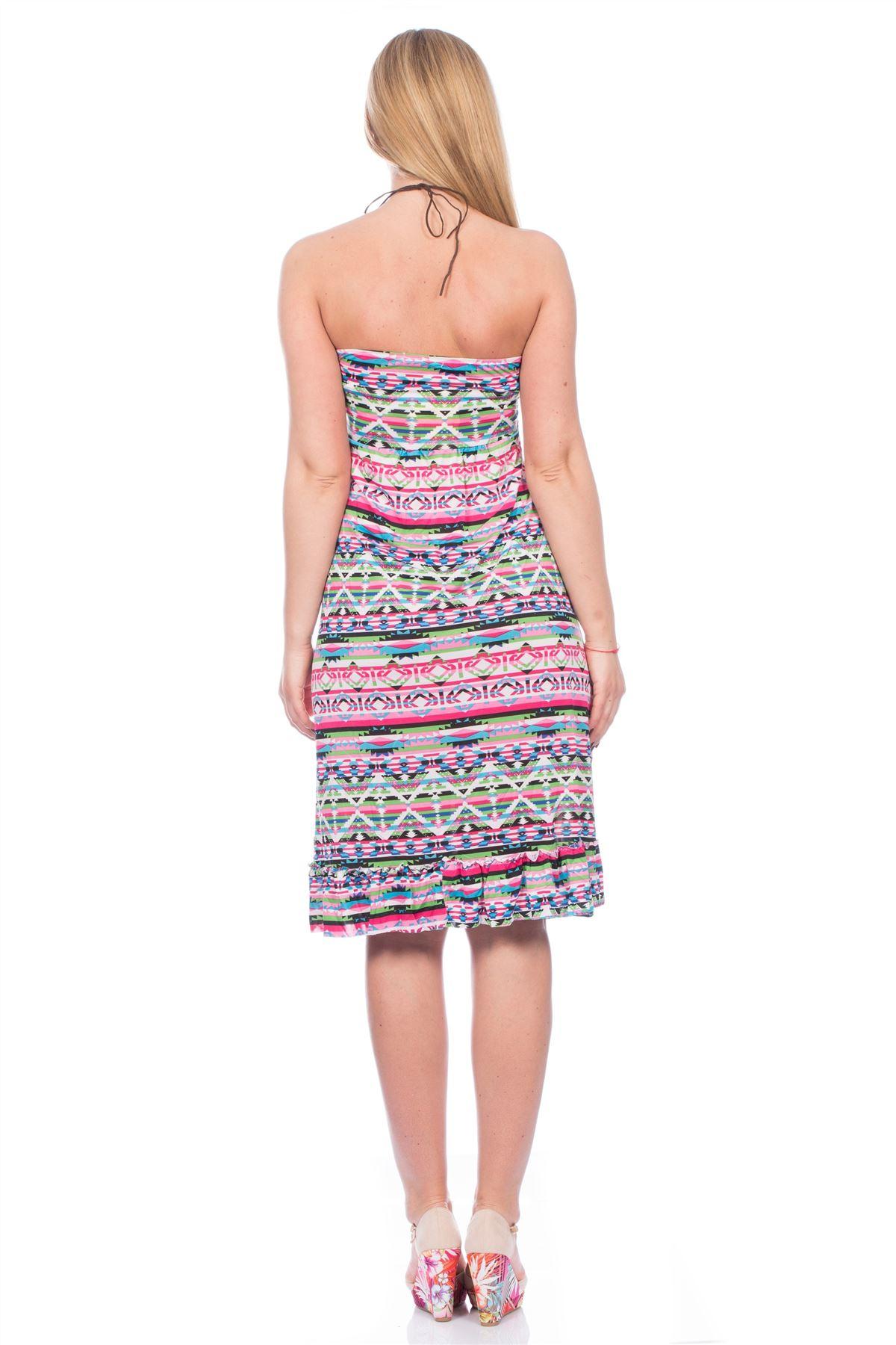 UK Womens Sexy Short Dress Aztec Ladies Summer Shorts ...