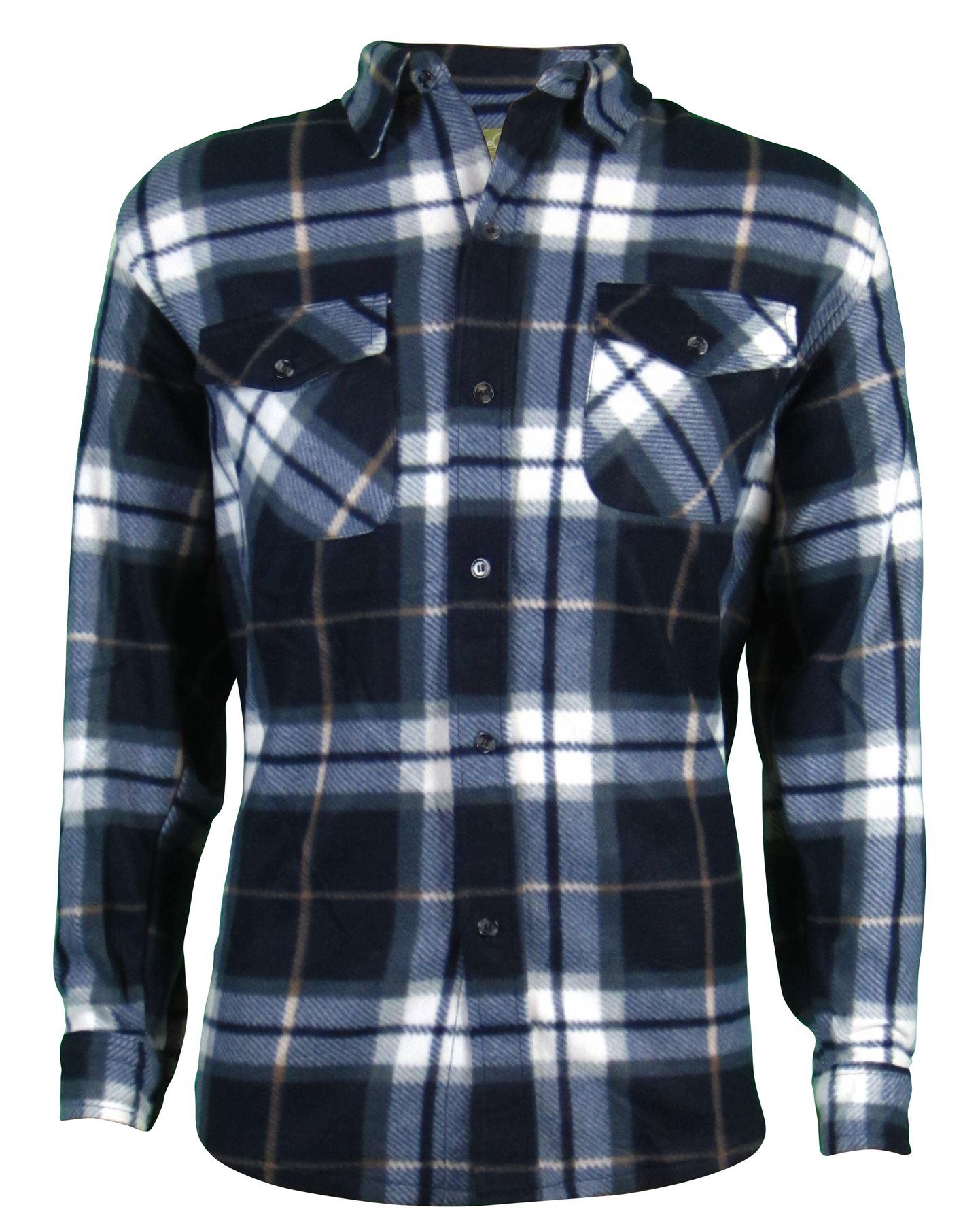 Shirt jacket design - Mens Sherpa Fleece Hooded Lumberjack Check Flannel Fleece