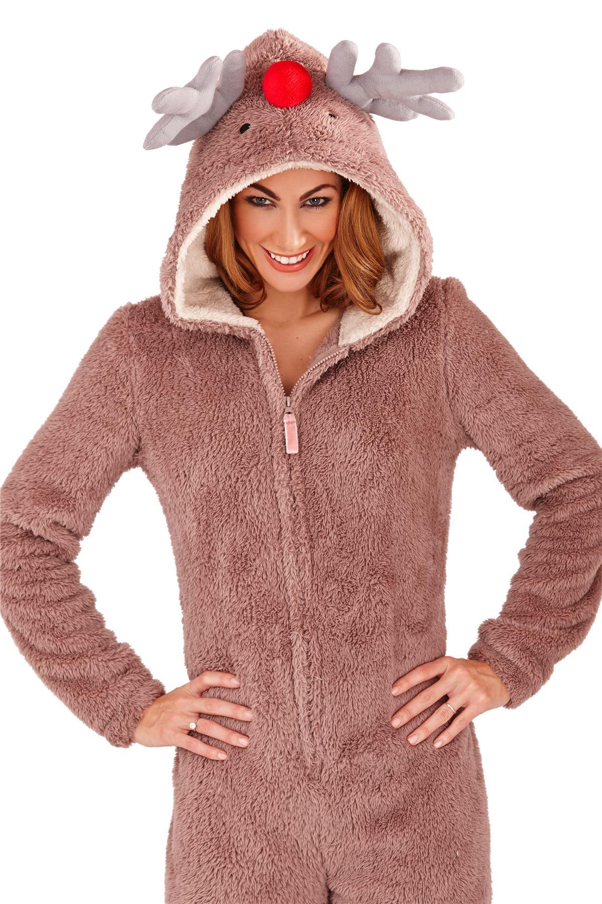 loungeable ladies adult animal onesie jumpsuit koala bear teddy pyjama nightwear ebay. Black Bedroom Furniture Sets. Home Design Ideas