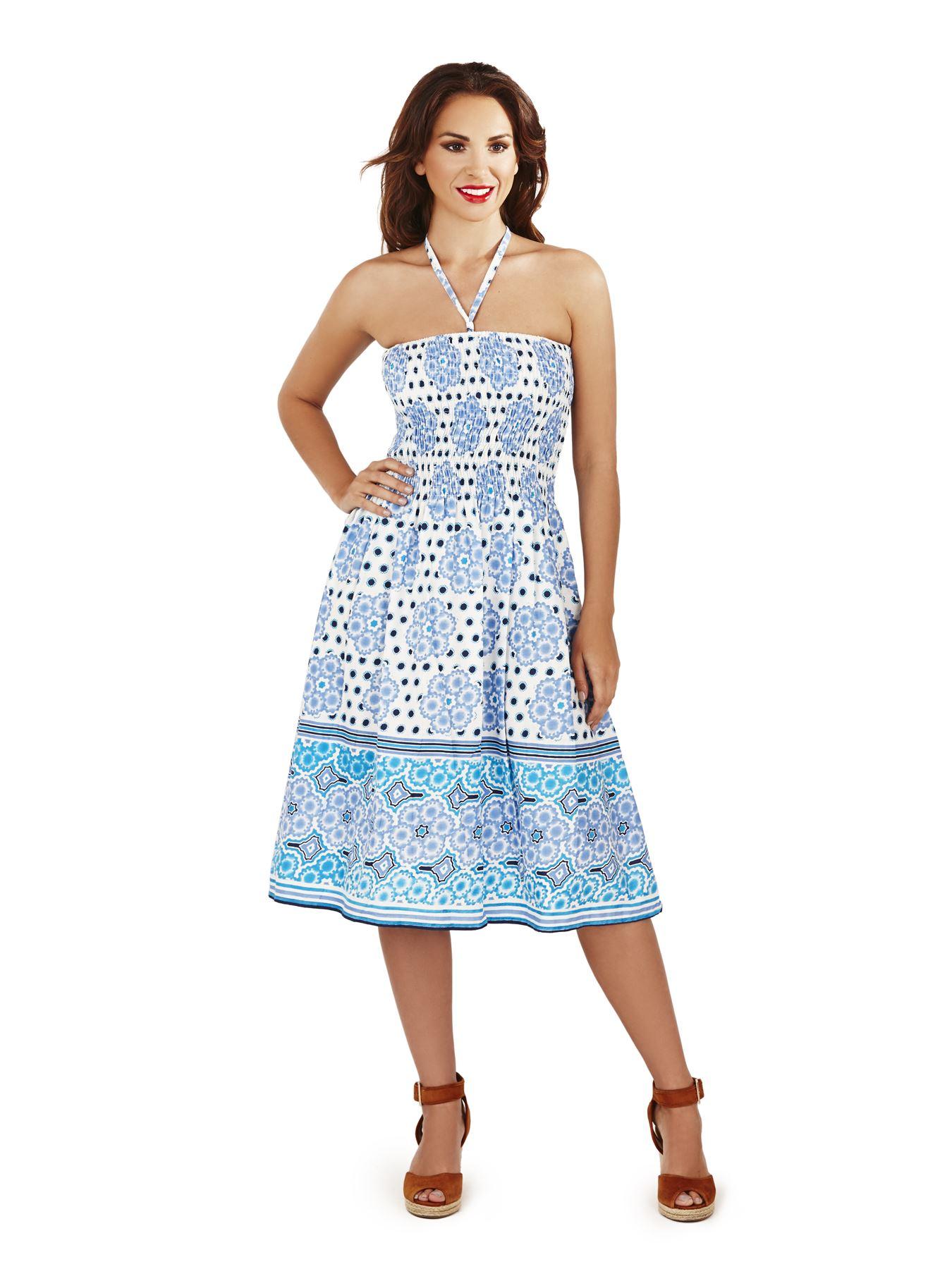 Pistachio Womens Summer Beach Holiday Dress 3in1 Knee ...