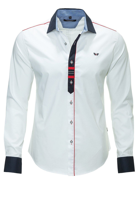 Shirt design with collar - Mens Carisma Fashion Block Cuffs Amp Collar Slim