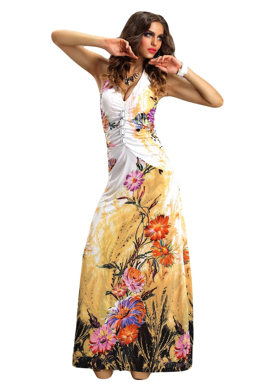 Wear the boho maxi dress with sleeves with some lightweight tie up sandals for a good look. These styles can get along in a closet with plus size bohemian dresses.