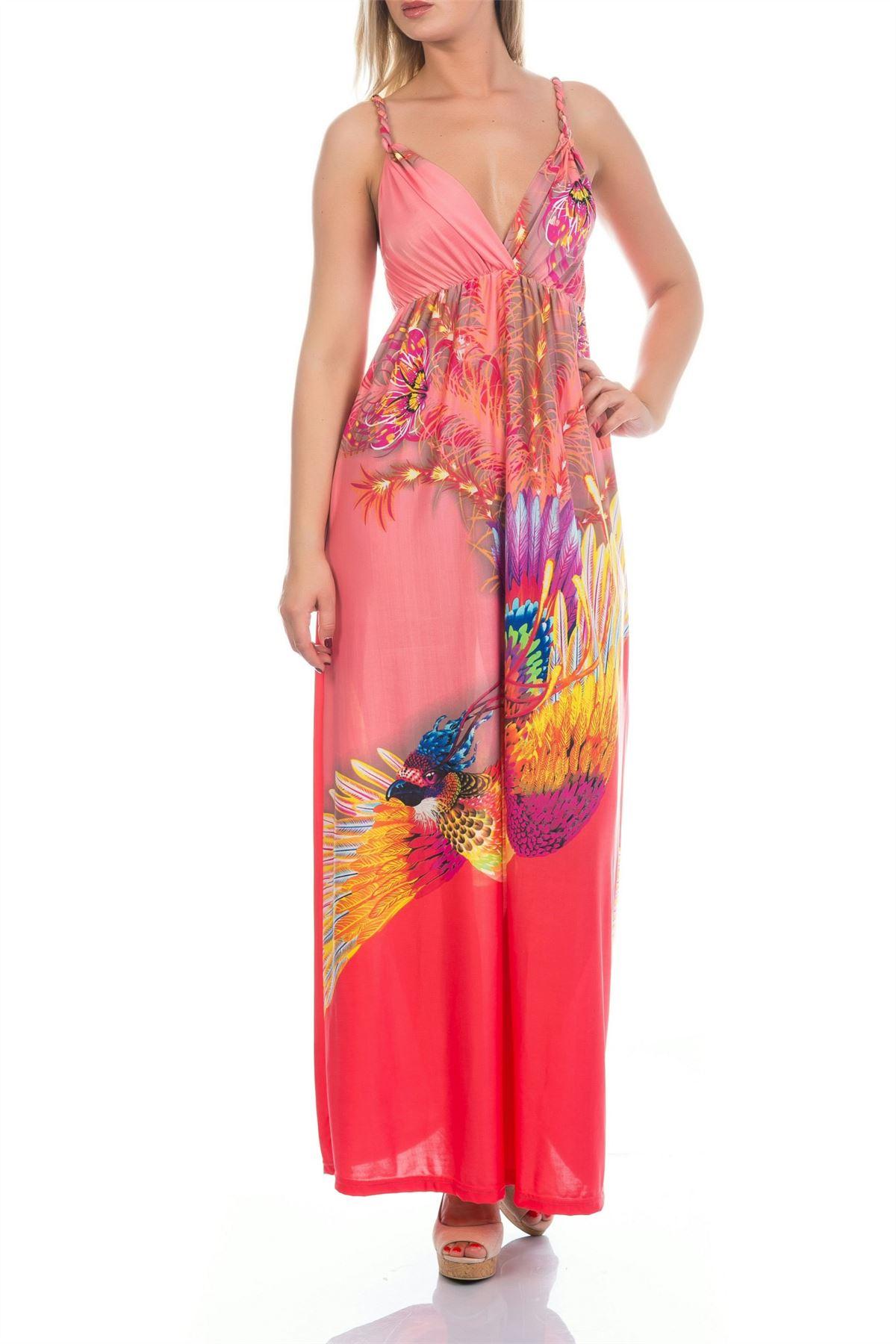 Martildo Womens Ladies Bright Tropical Holiday Summer Long ...