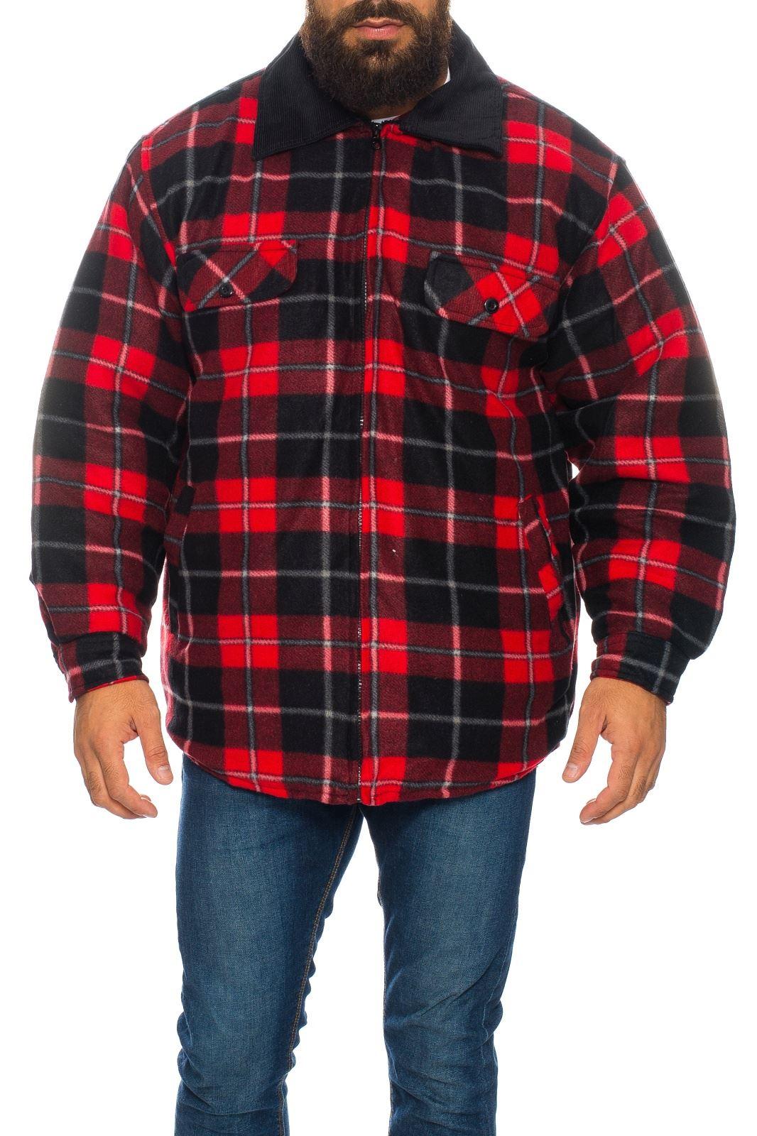 Mens Hooded Flannel Jacket