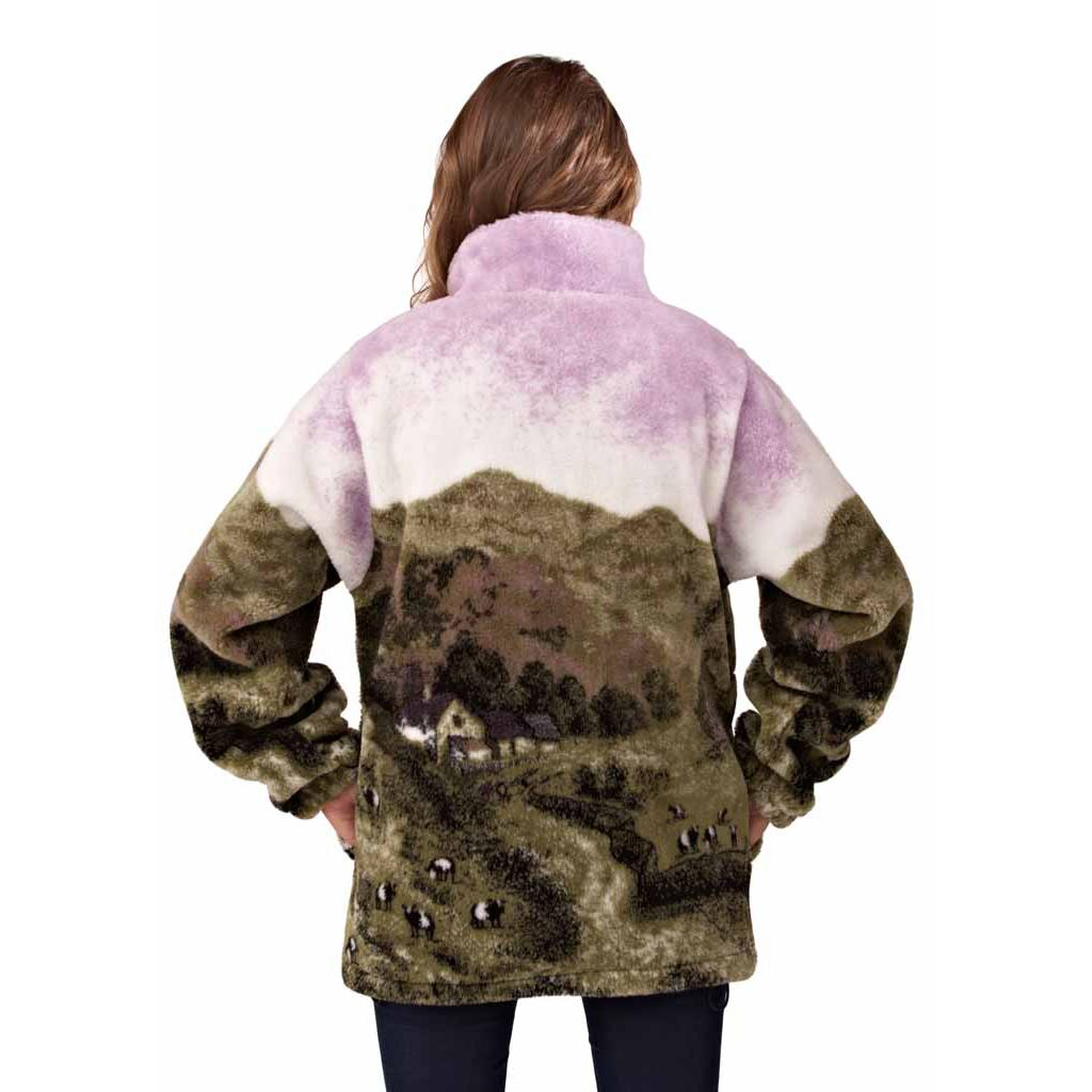 Ladies Fleece Lined Jacket Windproof Soft Thick Thermal