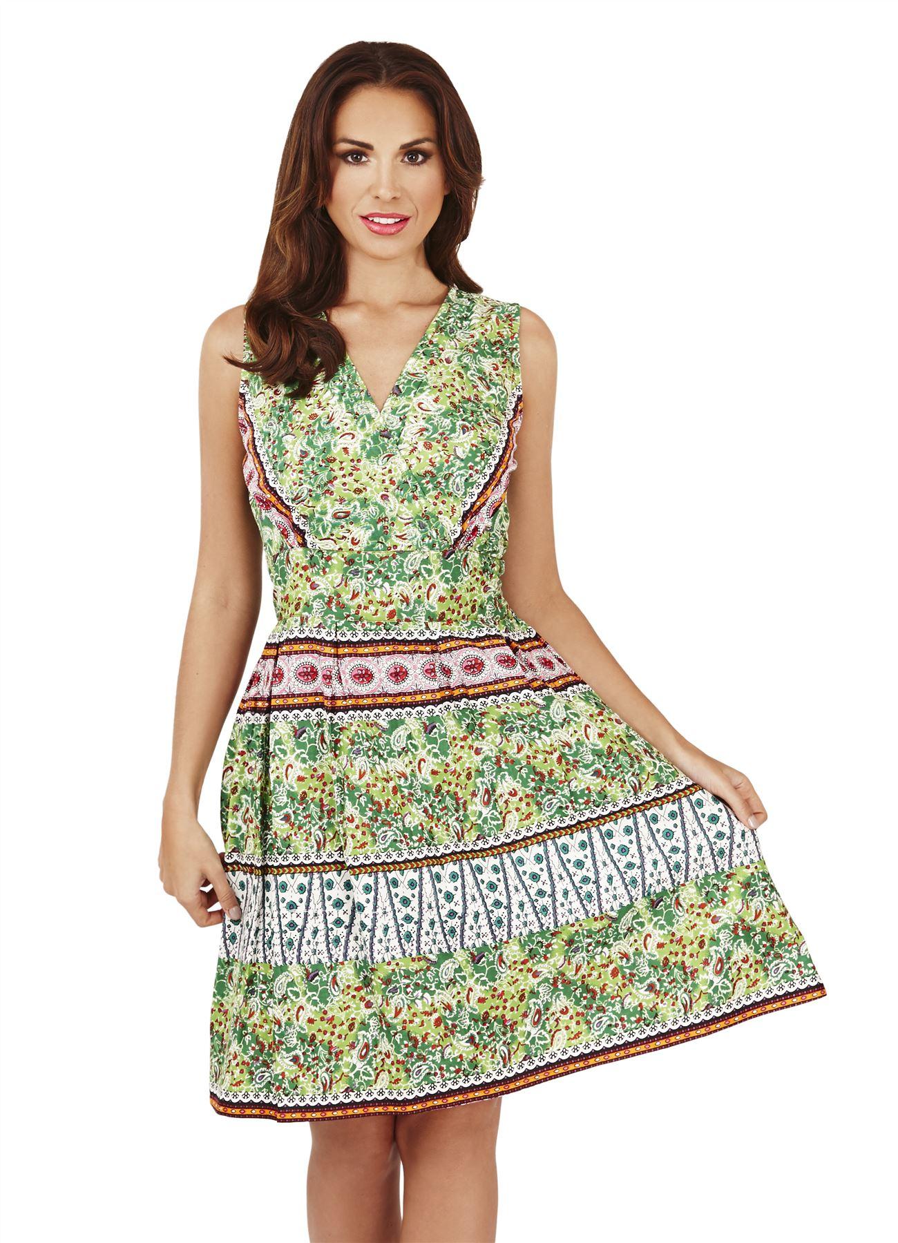 New 2017 Ladies Summer Holiday Cotton SunDress Evening ...