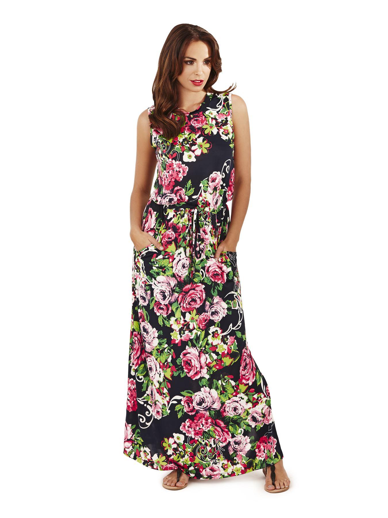 Pistachio Ladies Maxi Dress Long Womens Summer Floral ...