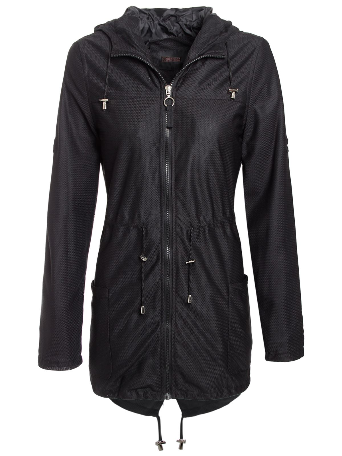 NEW LADIES WOMENS MESH LIGHTWEIGHT PARKA HOODED JACKET SIZES 8-16