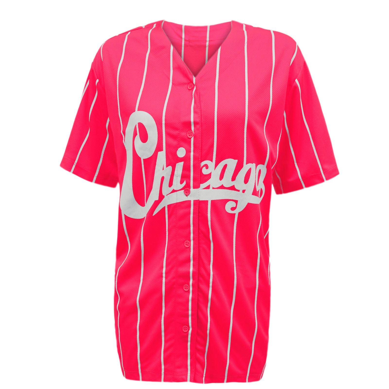 New womens ladies chicago stripes american baseball for Baseball jersey shirt dress