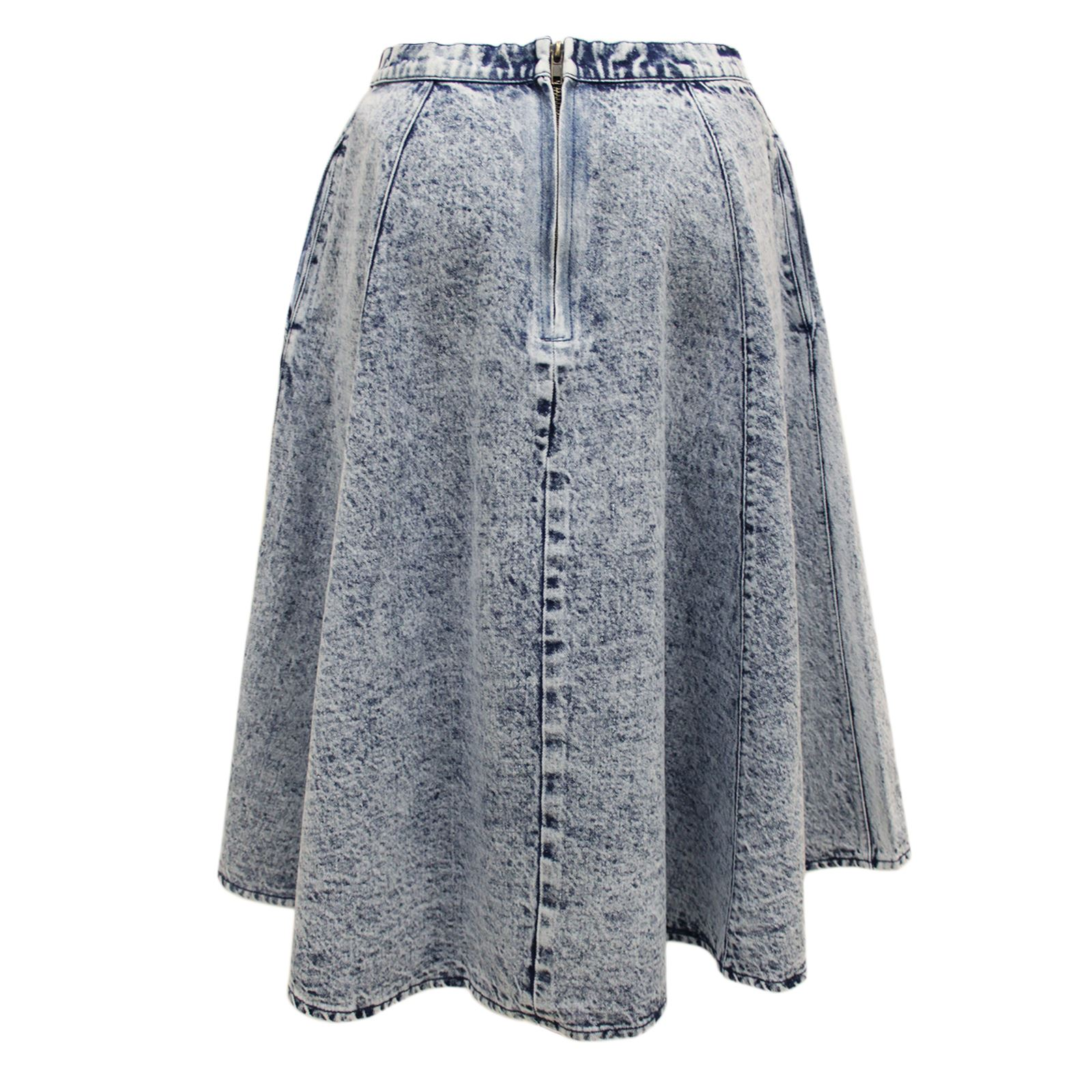 new womens vintage light acid wash swing denim