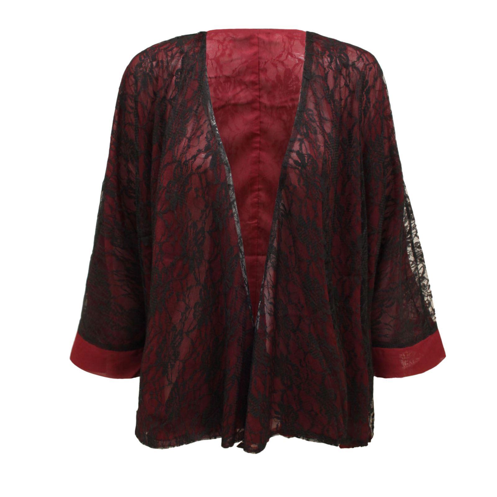 womens ladies retro boho hippie casual lace top kimono coat cape blazer jacket ebay. Black Bedroom Furniture Sets. Home Design Ideas