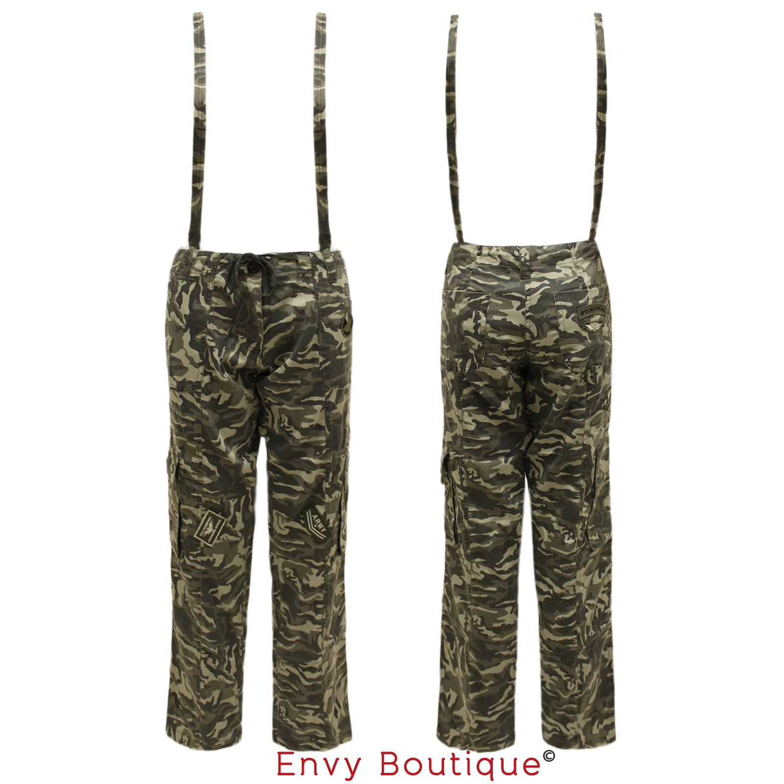 Creative Clothing Fashion Women39s Army Fatigue Camo Cargo Pants Girls Baggy