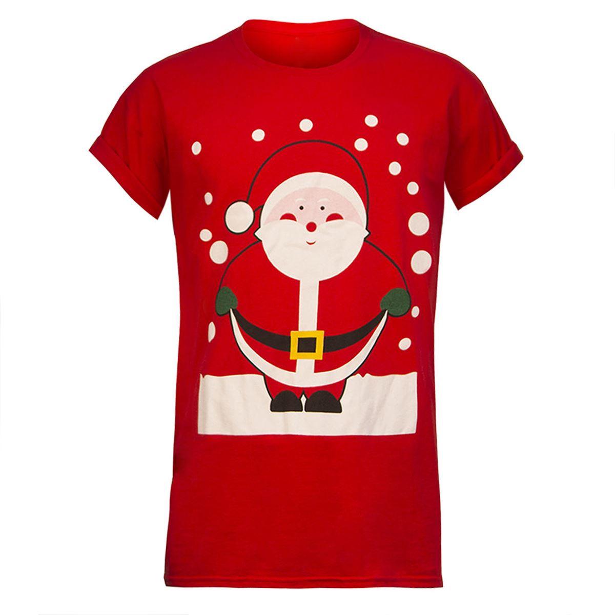 unisex mens womens xmas christmas t shirt novelty santa reindeer