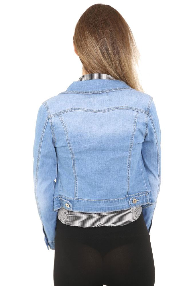Denim Jackets Outerwear. Showing 48 of results that match your query. Search Product Result. Product - Time and Tru Women's Hooded Anorak Utility Jacket. Product - Cover Girl Jeans Denim Jacket for Women Distressed Long Sleeve Size Small Denim Blue. Product Image. Price $ .
