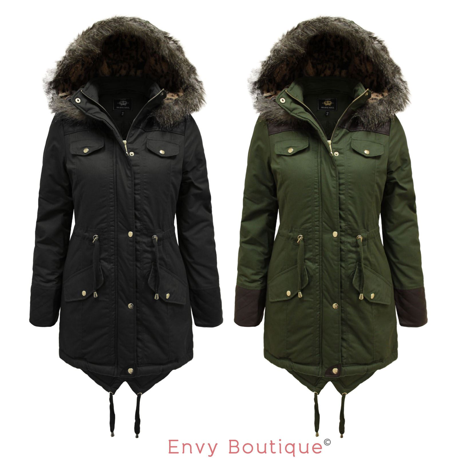 Womens Fishtail Parka Coats - JacketIn