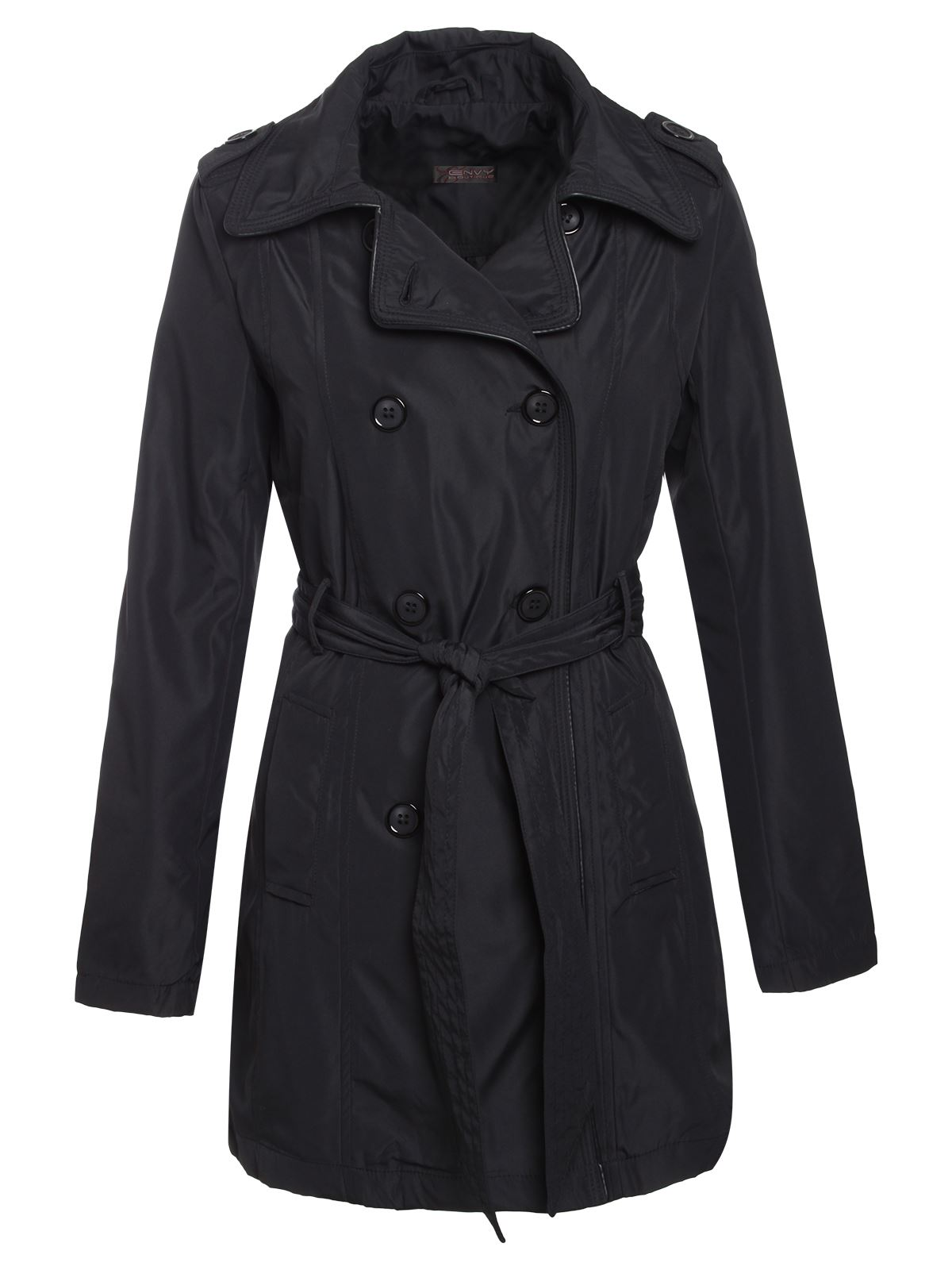 Brave-Soul-Ladies-Womens-Trench-Mac-Belted-Jacket-Double-Breasted-Coat