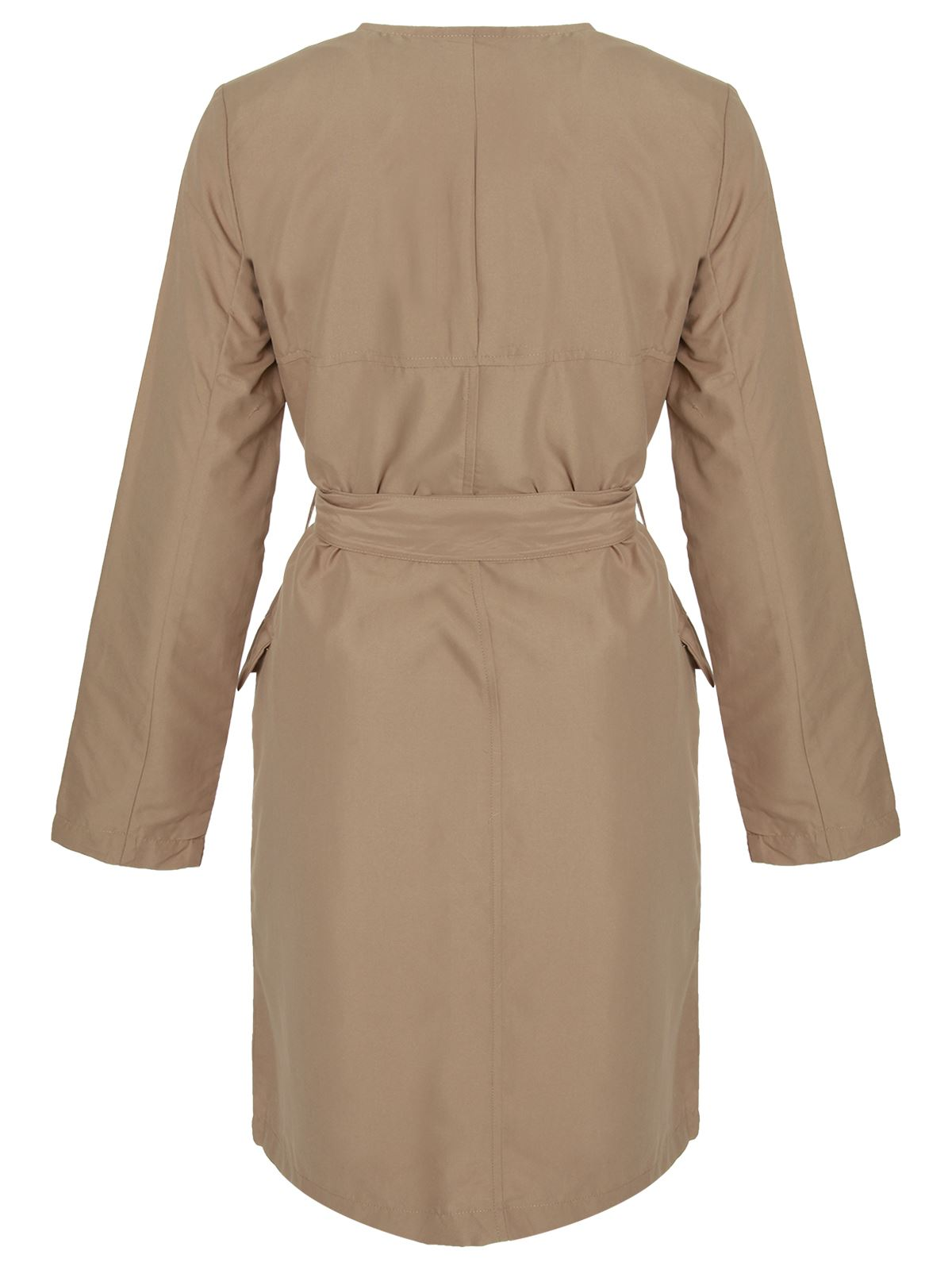 Ladies-Womens-Microfibre-Double-Breasted-Trench-Mac-Jacket-Tie-Belted-Coat