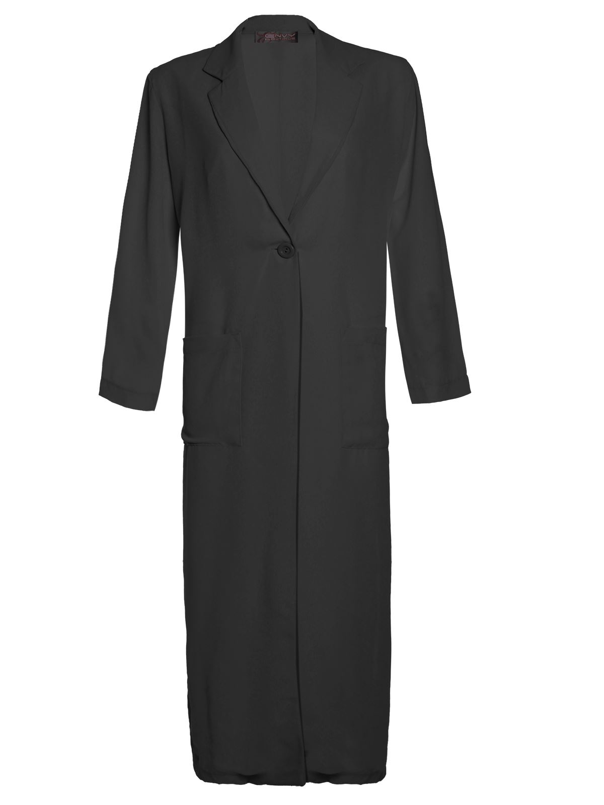 Ladies Womens Chiffon Maxi Long Sleeve Side Split Duster Jacket ...