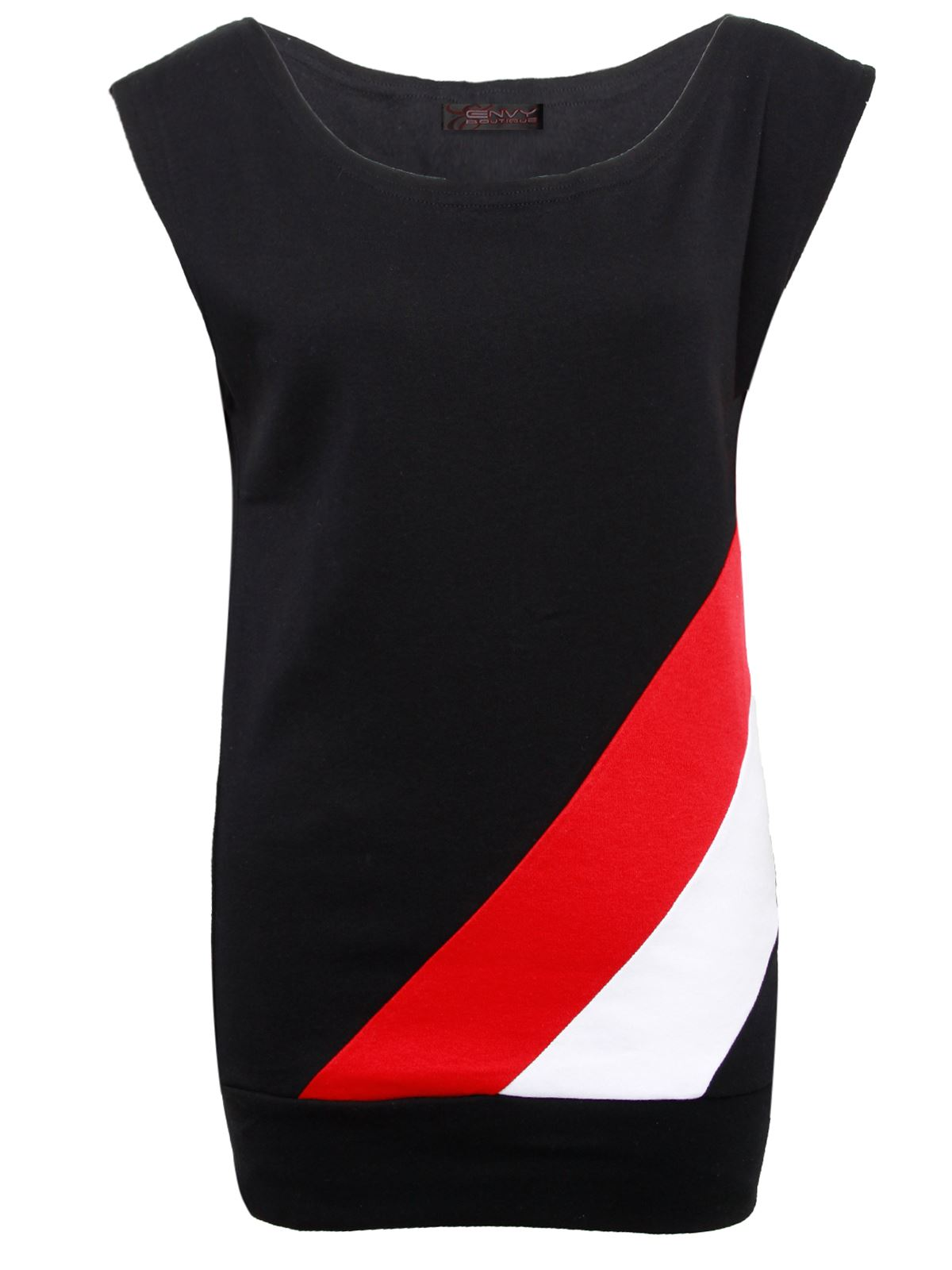 new ladies womens cotton retro vintage red white stripe