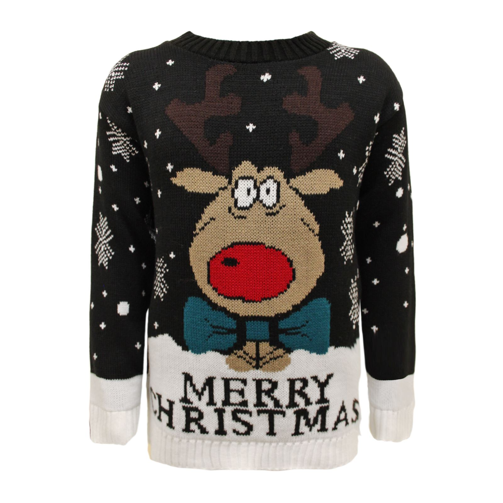 new kids merry christmas xmas knitted reindeer sweater