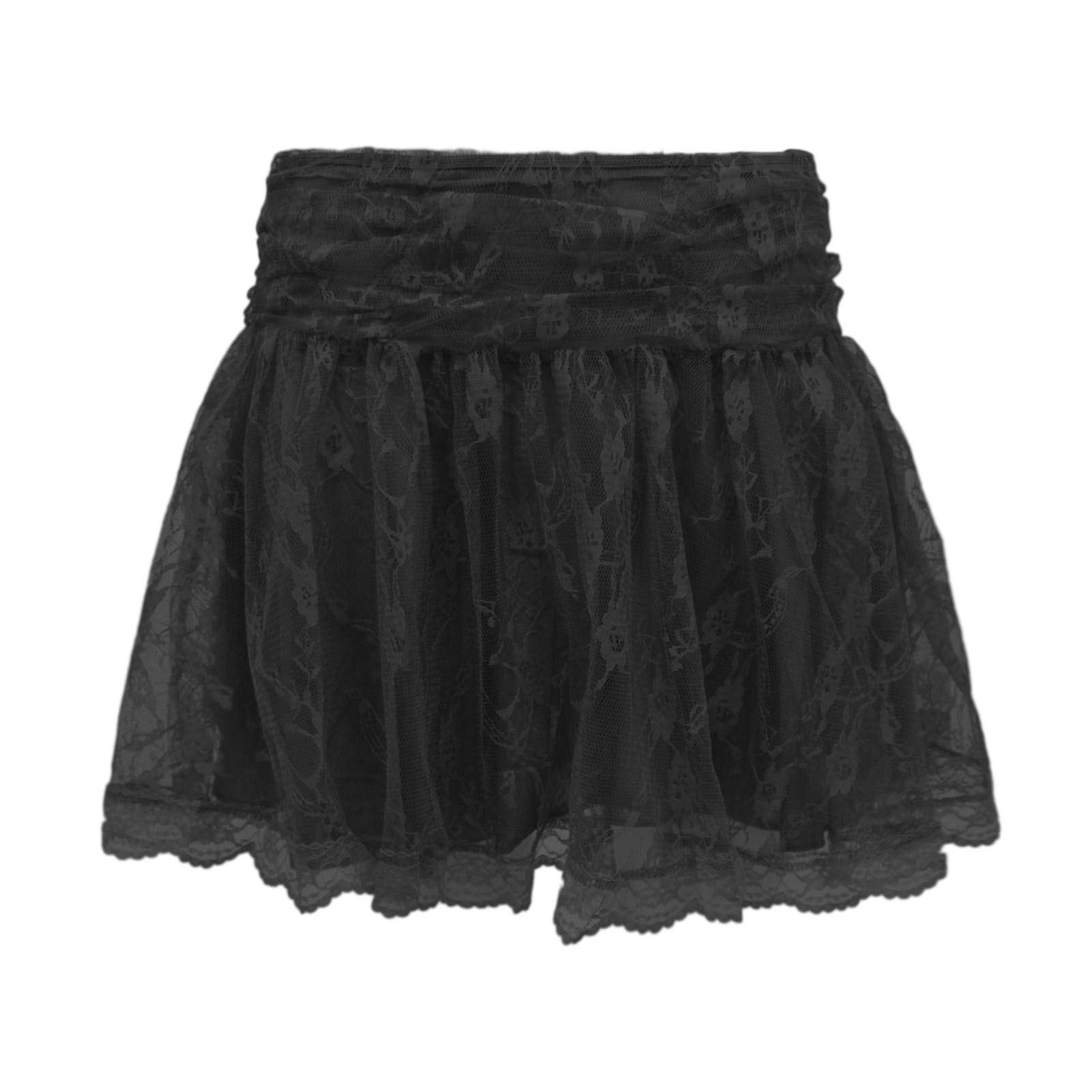Lastest NEW Lace Skirts Fashion Women S Lady Crochet Tiered Lace Short Skirt