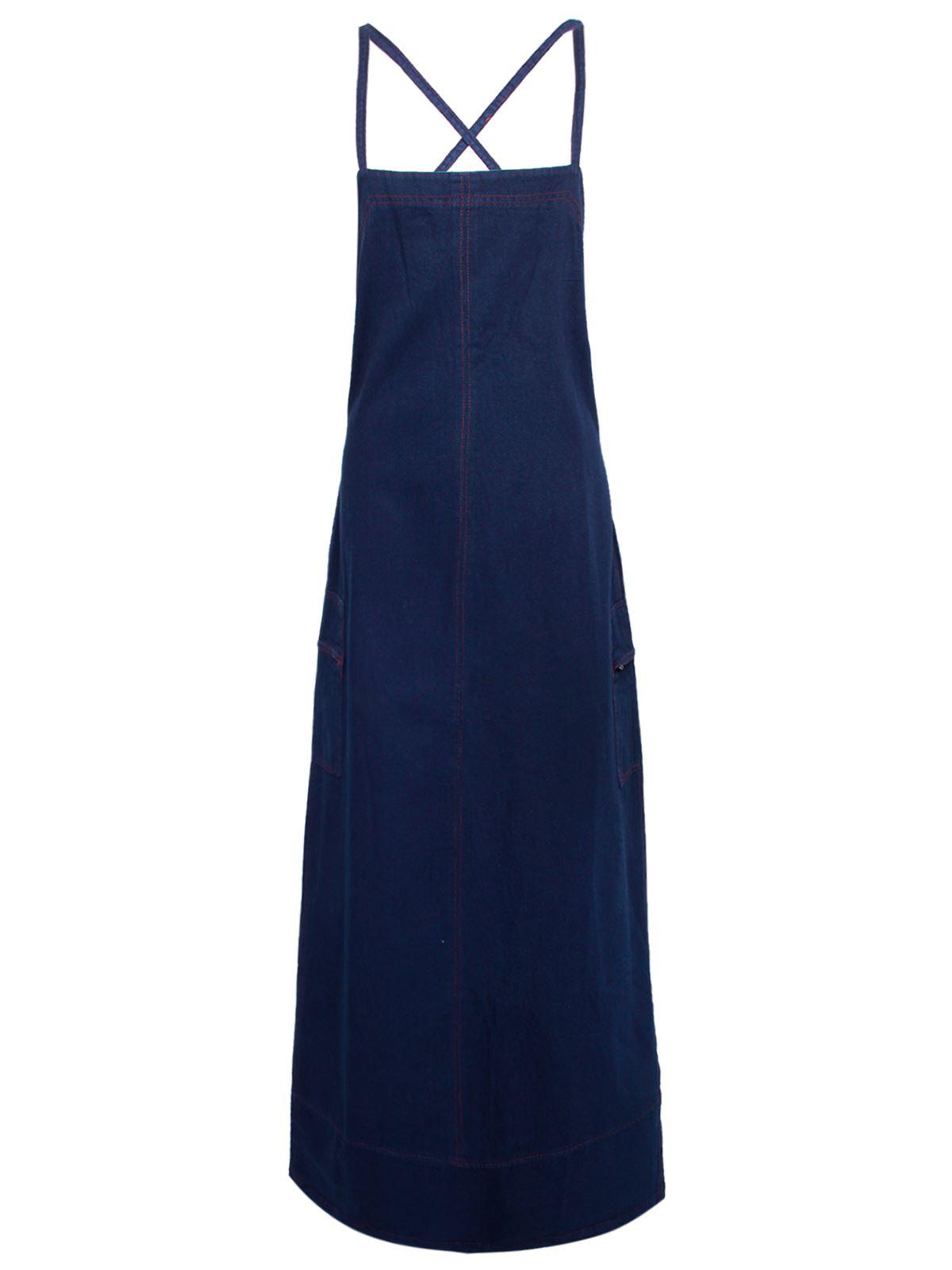 new ladies womens retro vintage denim blue summer cotton jeans long