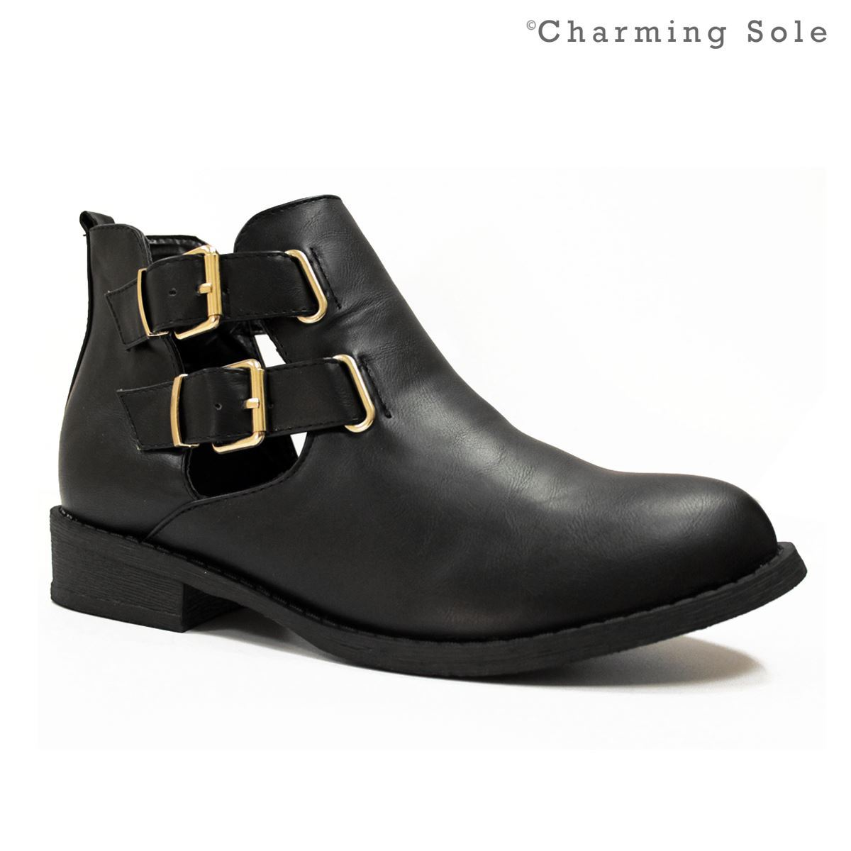 womens cleated sole high heel chunky platform boots