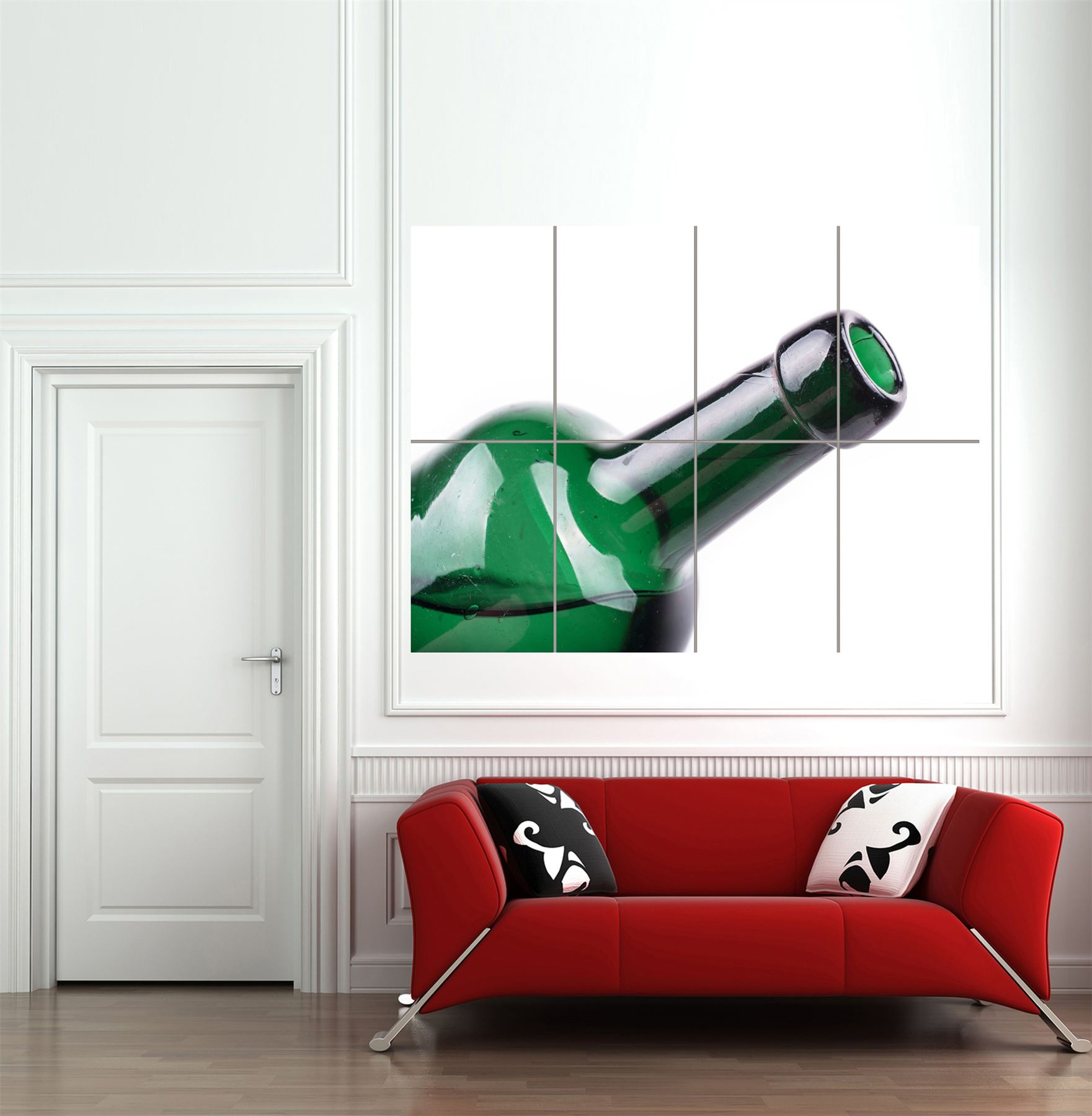 GREEN-BOTTLE-WINE-GLASS-GIANT-WALL-ART-PRINT-HOME-DECOR-POSTER-MP1931