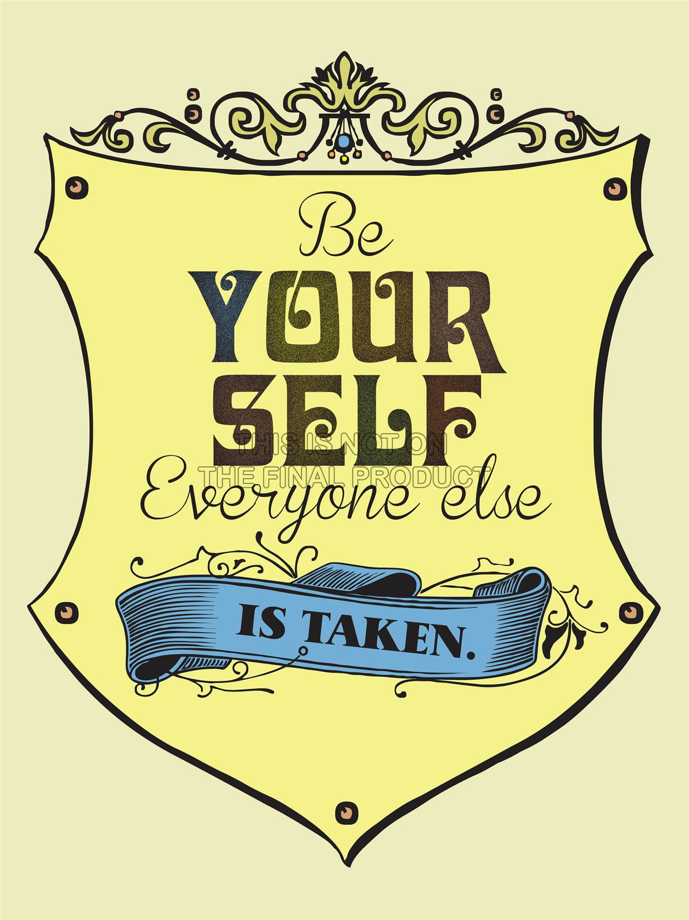 ... -EVERYONE-ELSE-TAKEN-WILDE-QUOTE-TYPOGRAPHY-MOTIVATION-POSTER-QU212A