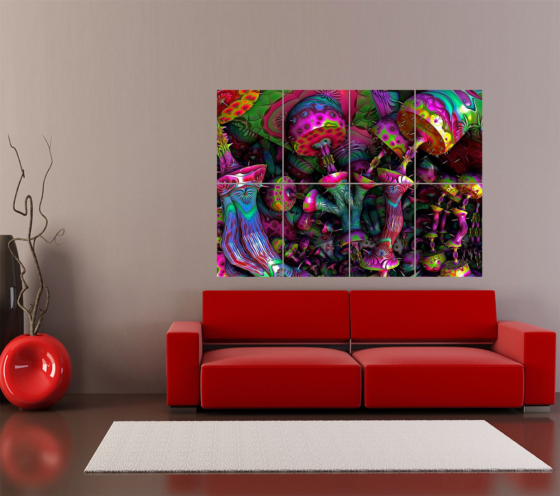 Trippy Home Decor: PSYCHEDELIC TRIPPY ART GIANT ART PRINT HOME DECOR POSTER