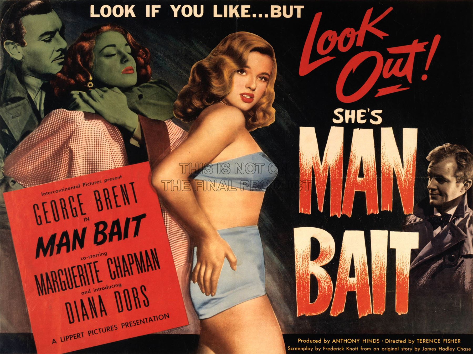 ADVERTISING-MOVIE-FILM-MAN-BAIT-DIANA-DORS-ART-POSTER-PRINT-LV1064