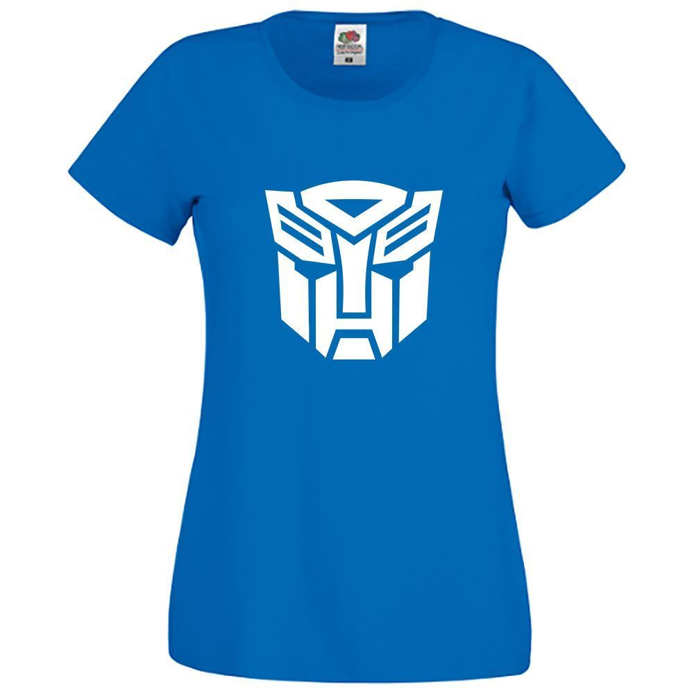 Womens Transformers Distressed Girls Top Novelty Printed