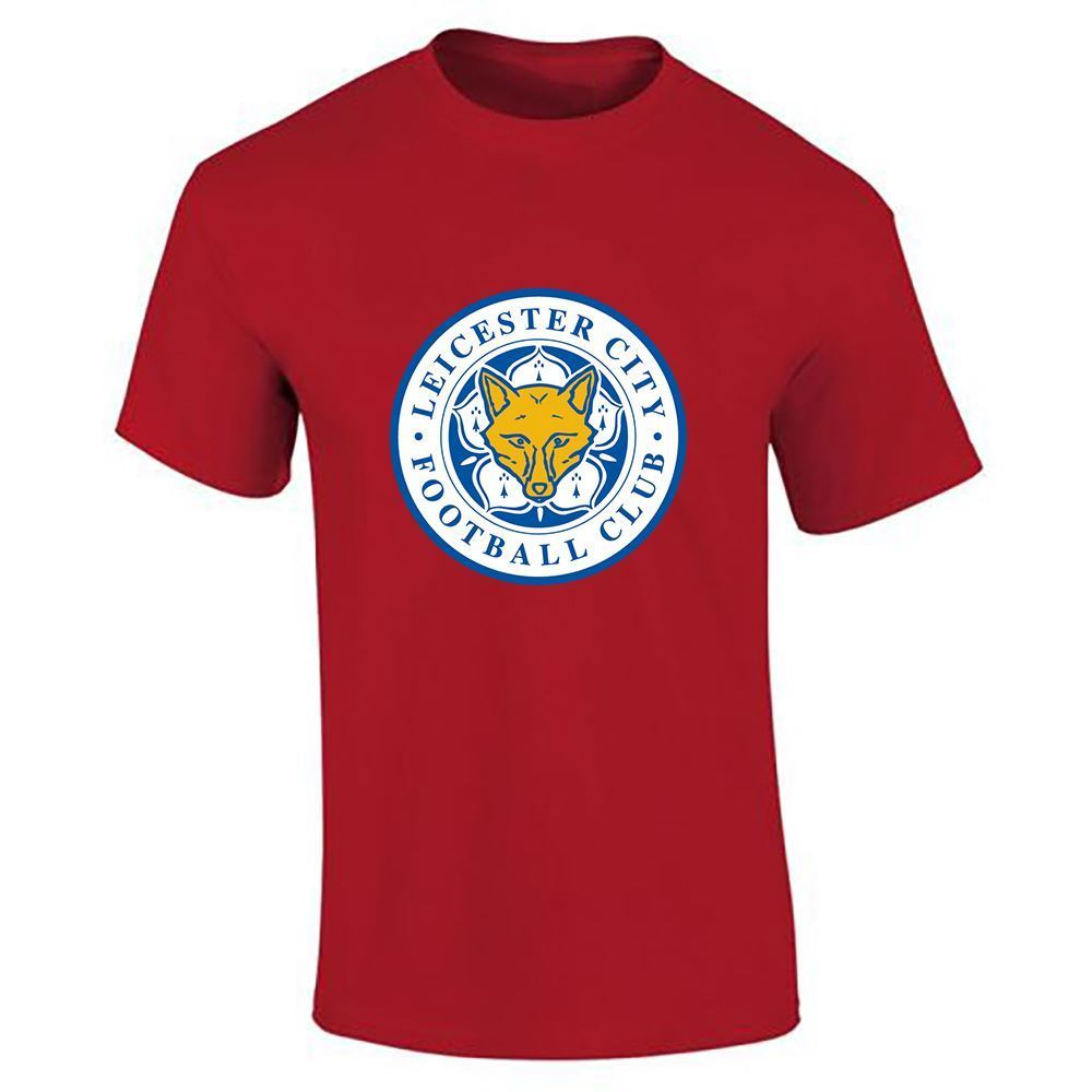 Mens boys leicester city football club logo sports printed for Boys soccer t shirts