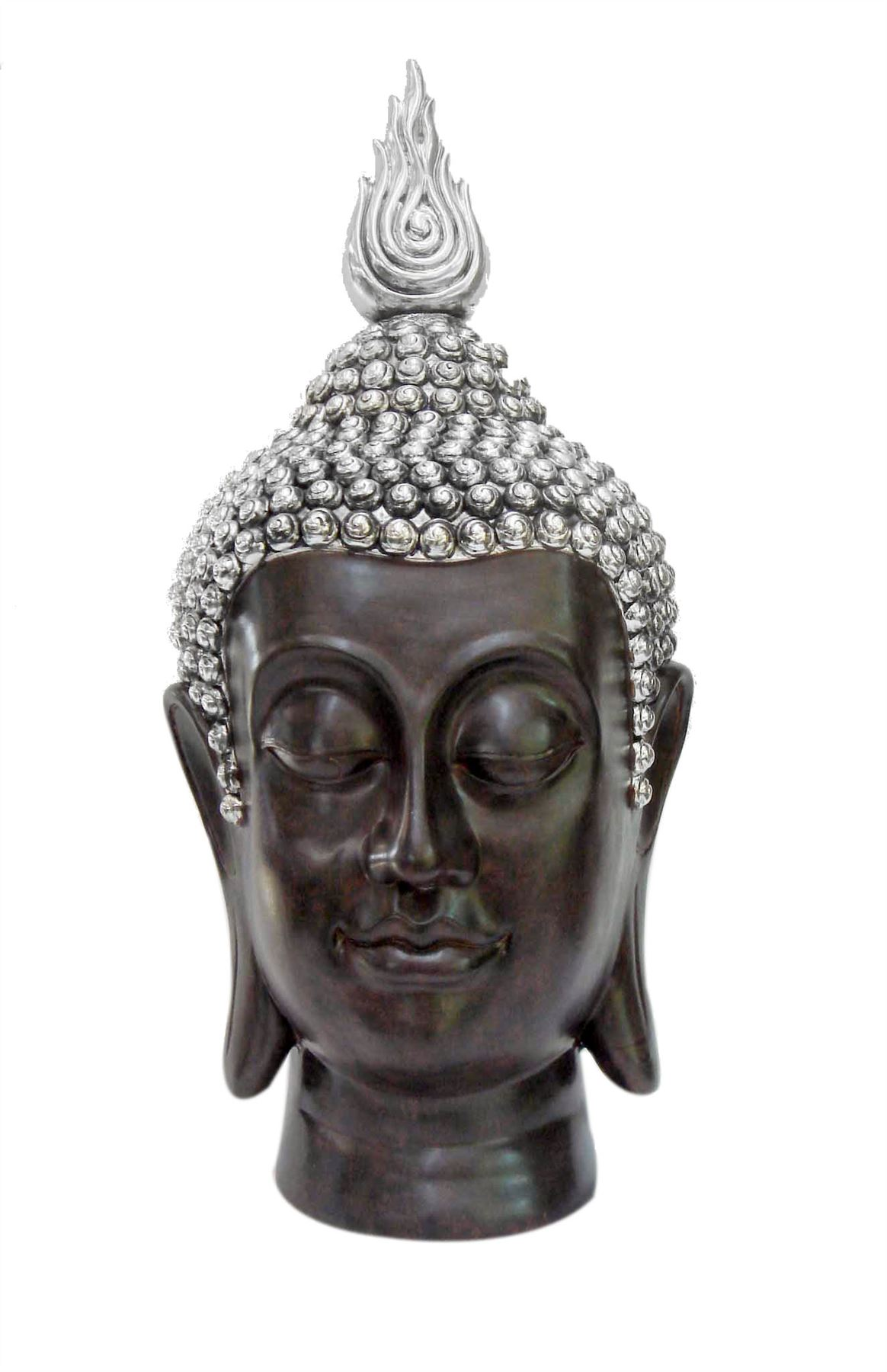 New electroplated resin buddha head 26 home ornament for Buddha decorations for the home uk