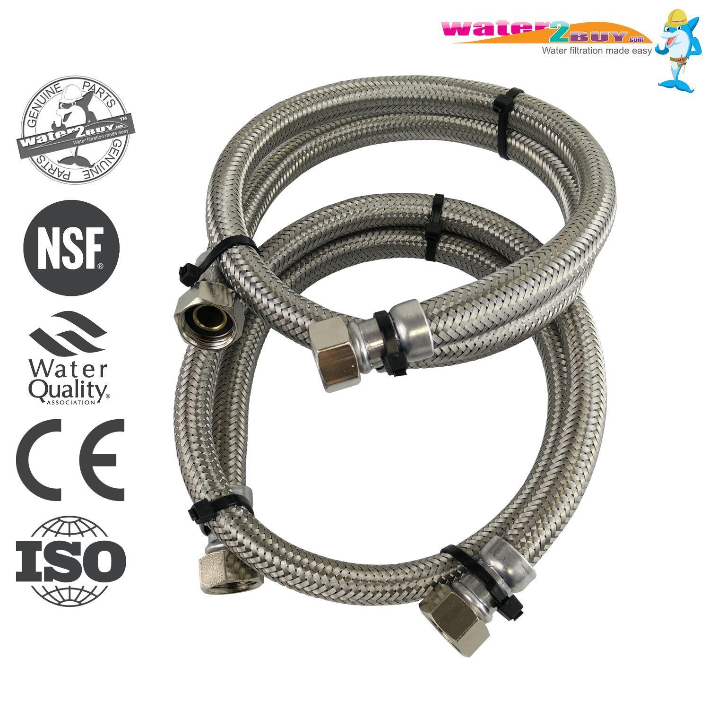 Tubi flessibili intrecciati in acciaio inox da 15 mm per addolcitori d'acqua