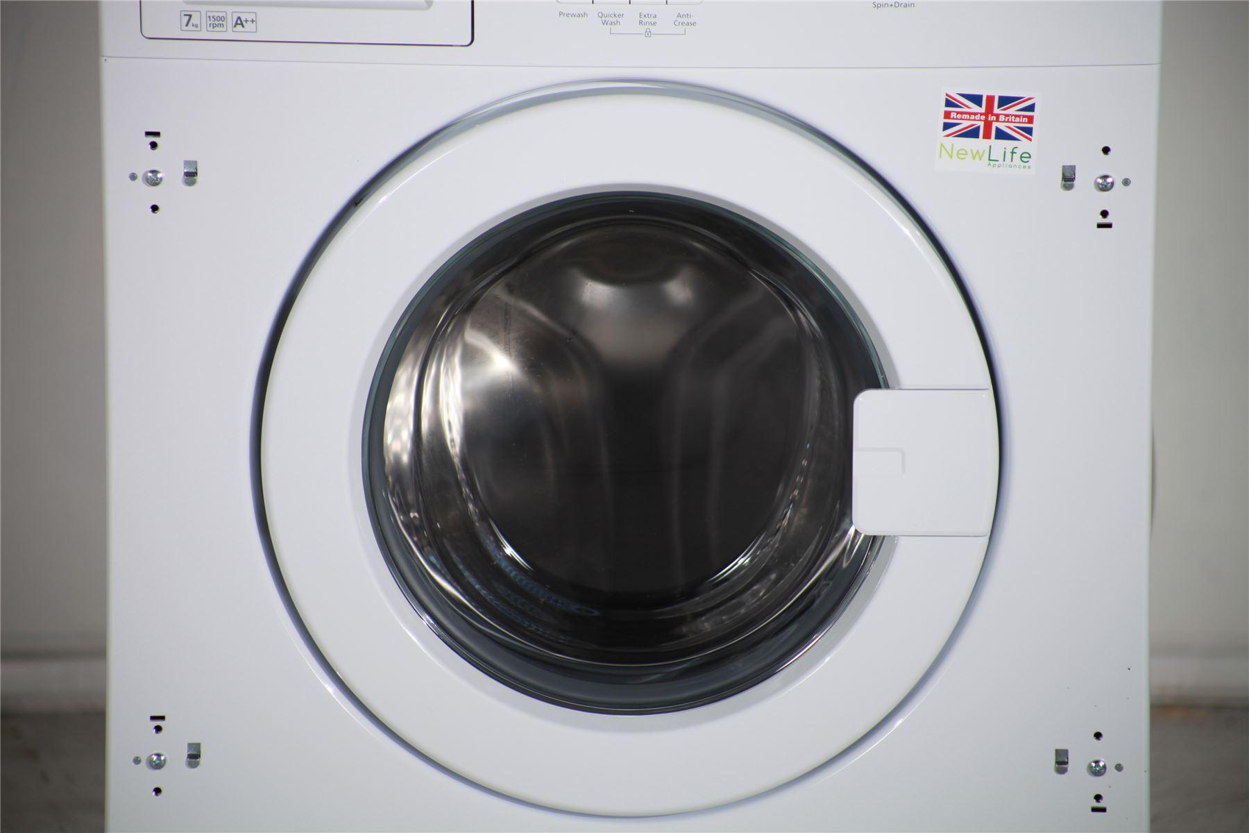 preloved beko integrated 7kg washing machine 1500 spin. Black Bedroom Furniture Sets. Home Design Ideas