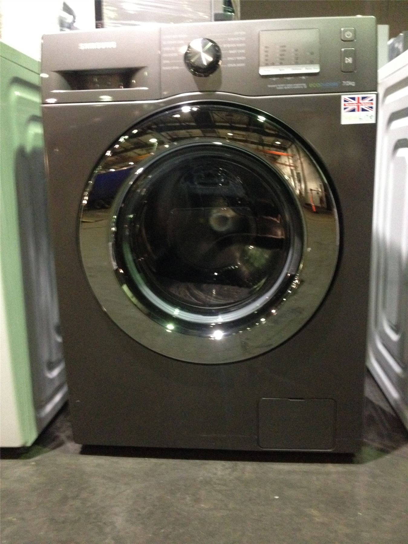 527054 p samsung eco bubble 7kg washing machine wf70f5edw4x silver ebay. Black Bedroom Furniture Sets. Home Design Ideas