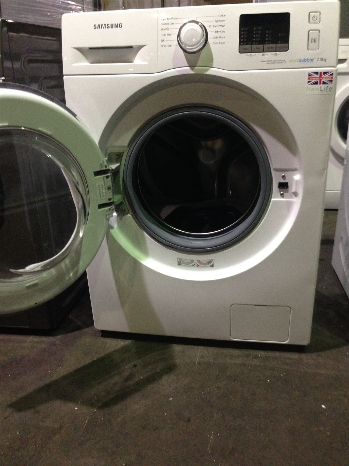 527041 p samsung eco bubble 7kg washing machine wf70f5e2w4w white ebay. Black Bedroom Furniture Sets. Home Design Ideas