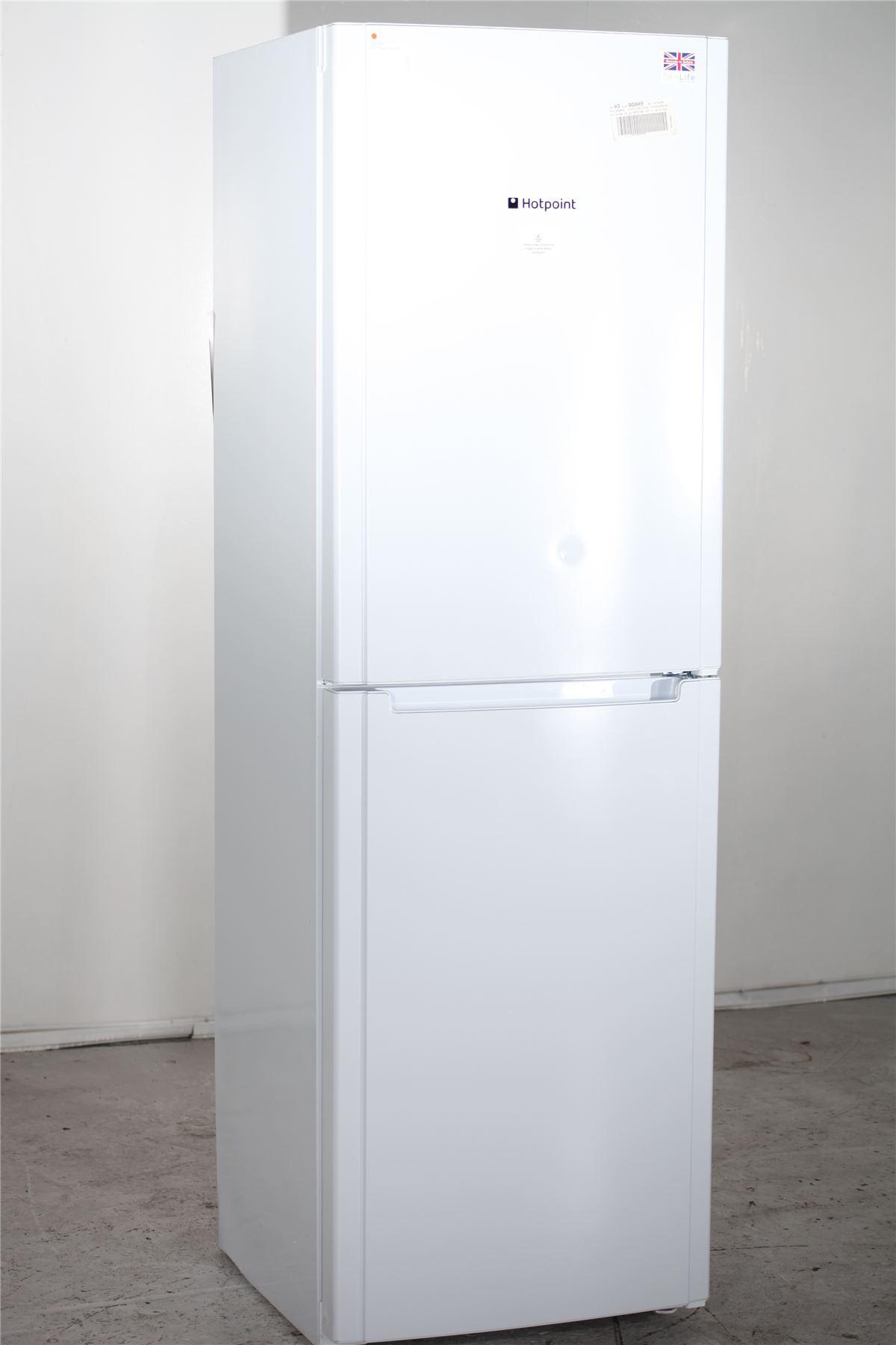 preloved hotpoint fridge freezer fsfl1810p white for. Black Bedroom Furniture Sets. Home Design Ideas