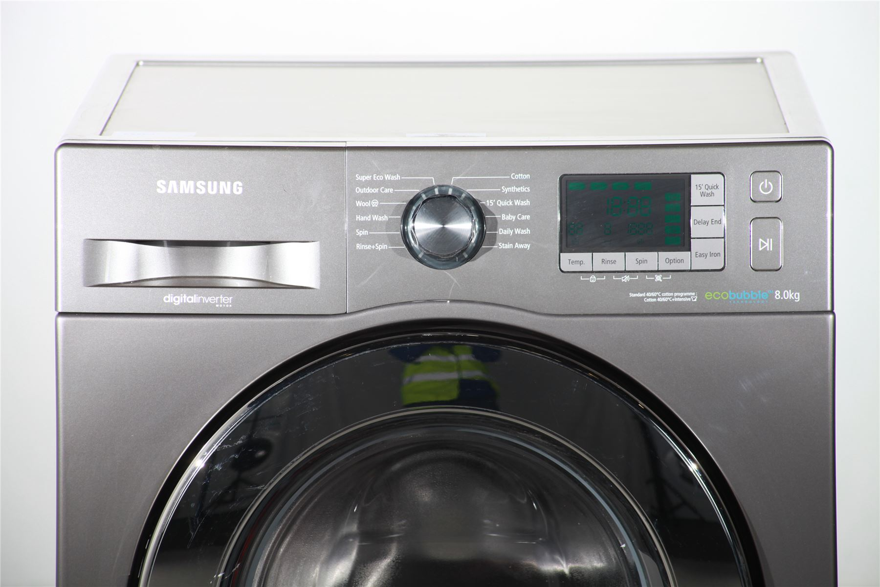 preloved samsung eco bubble 8kg washing machine wf80f5e5u4x silver for sale in edmonton. Black Bedroom Furniture Sets. Home Design Ideas