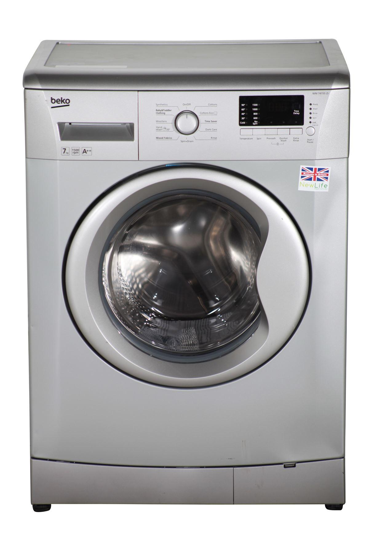 preloved beko 7kg washing machine 1500spin wm74155ls. Black Bedroom Furniture Sets. Home Design Ideas