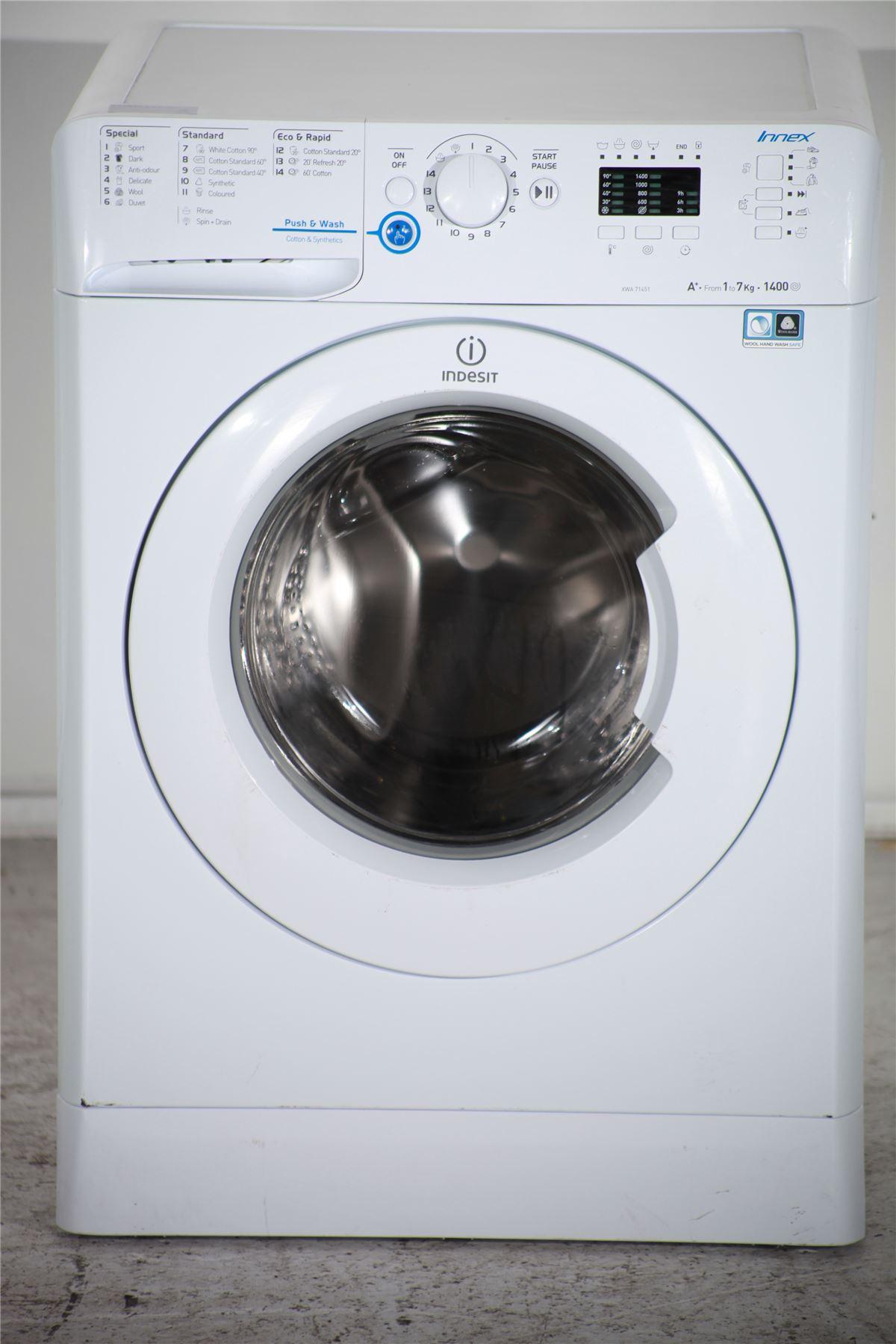 Preloved | indesit 7kg washing machine - xwa71451 - white ...