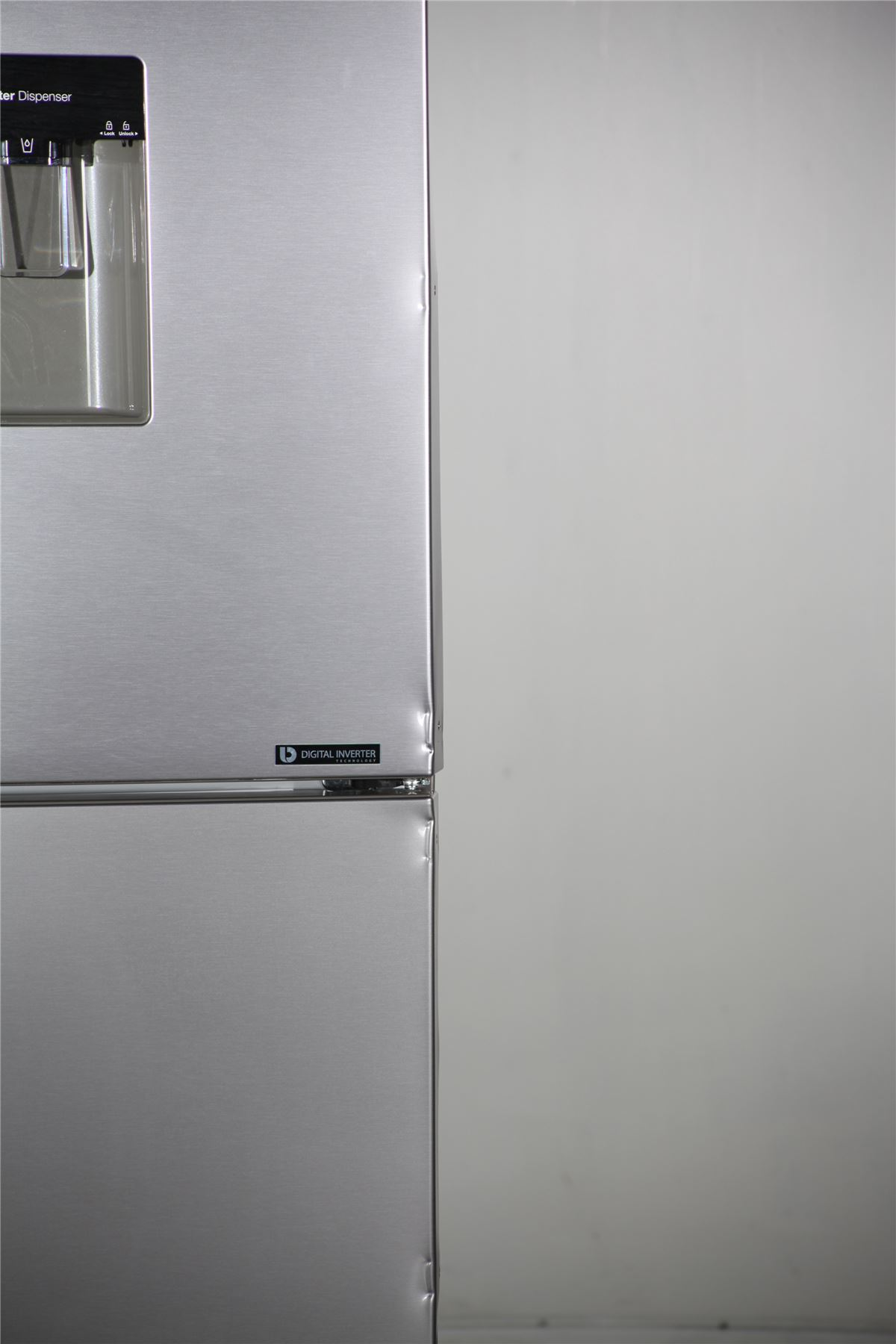 preloved samsung fridge freezer water dispenser rb29fwjndsa silver for sale in. Black Bedroom Furniture Sets. Home Design Ideas