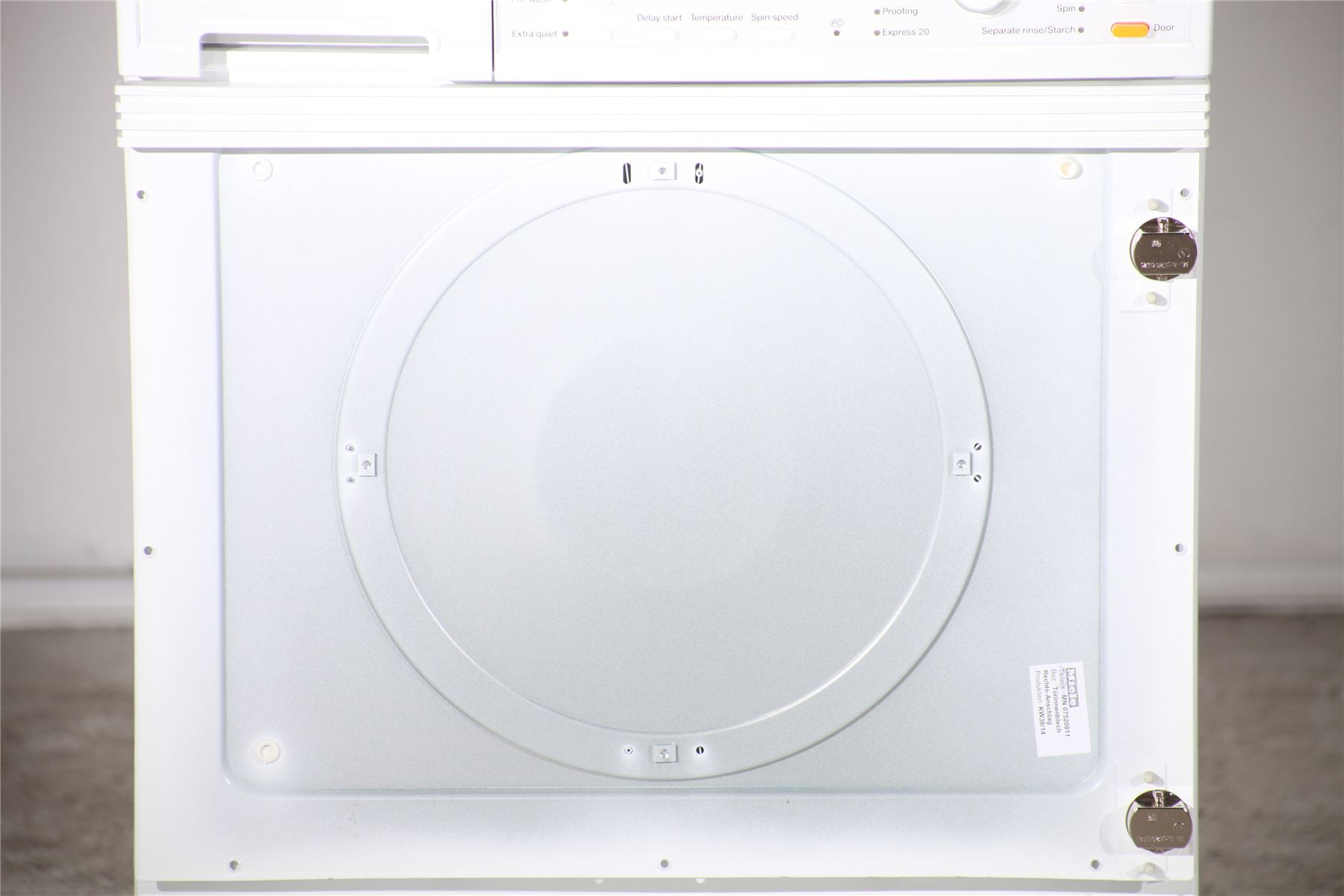 preloved miele 5kg integrated washing machine w2819. Black Bedroom Furniture Sets. Home Design Ideas