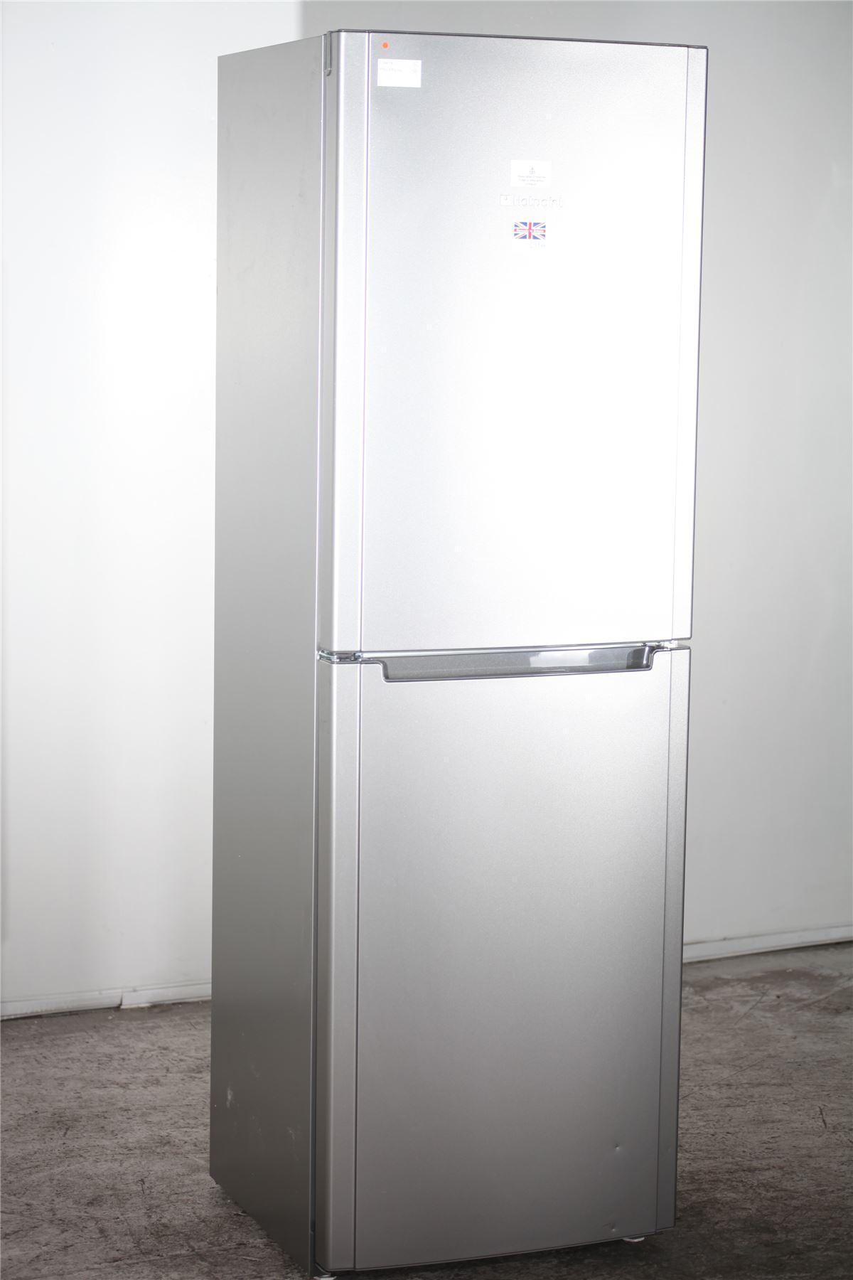 preloved hotpoint fridge freezer fsfl1810g silver. Black Bedroom Furniture Sets. Home Design Ideas