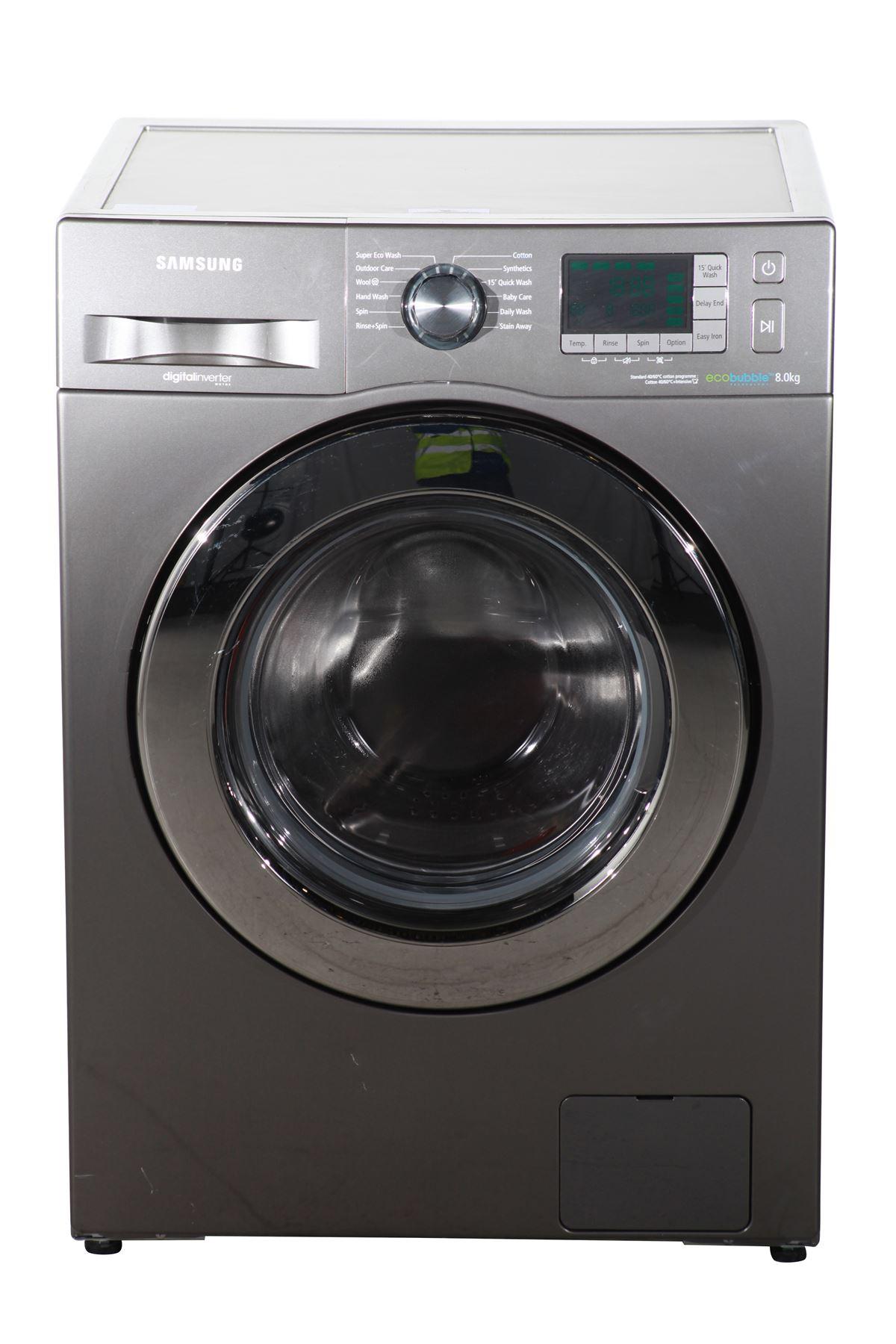 preloved samsung eco bubble 8kg washing machine wf80f5e5u4x silver for sale in edmonton. Black Bedroom Furniture Sets. Home Design Ideas