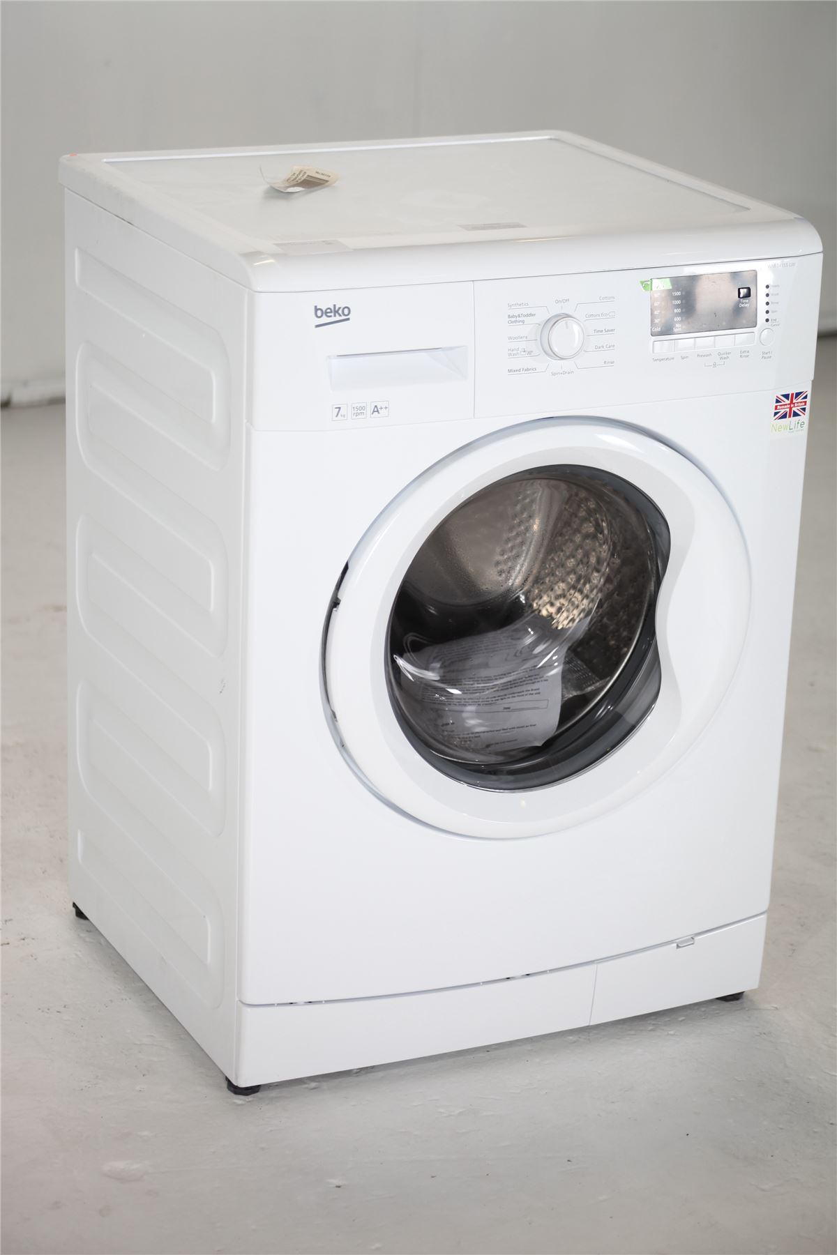 preloved beko 7kg 1500rpm washing machine wm74155l. Black Bedroom Furniture Sets. Home Design Ideas