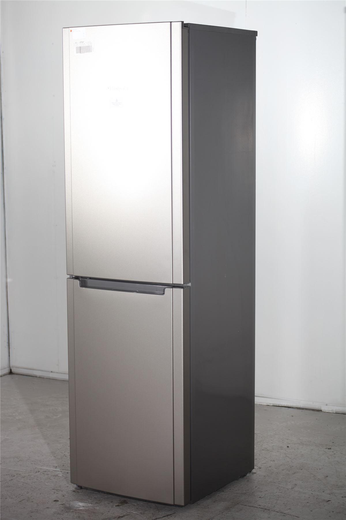 preloved hotpoint fridge freezer fsfl58g silver for. Black Bedroom Furniture Sets. Home Design Ideas