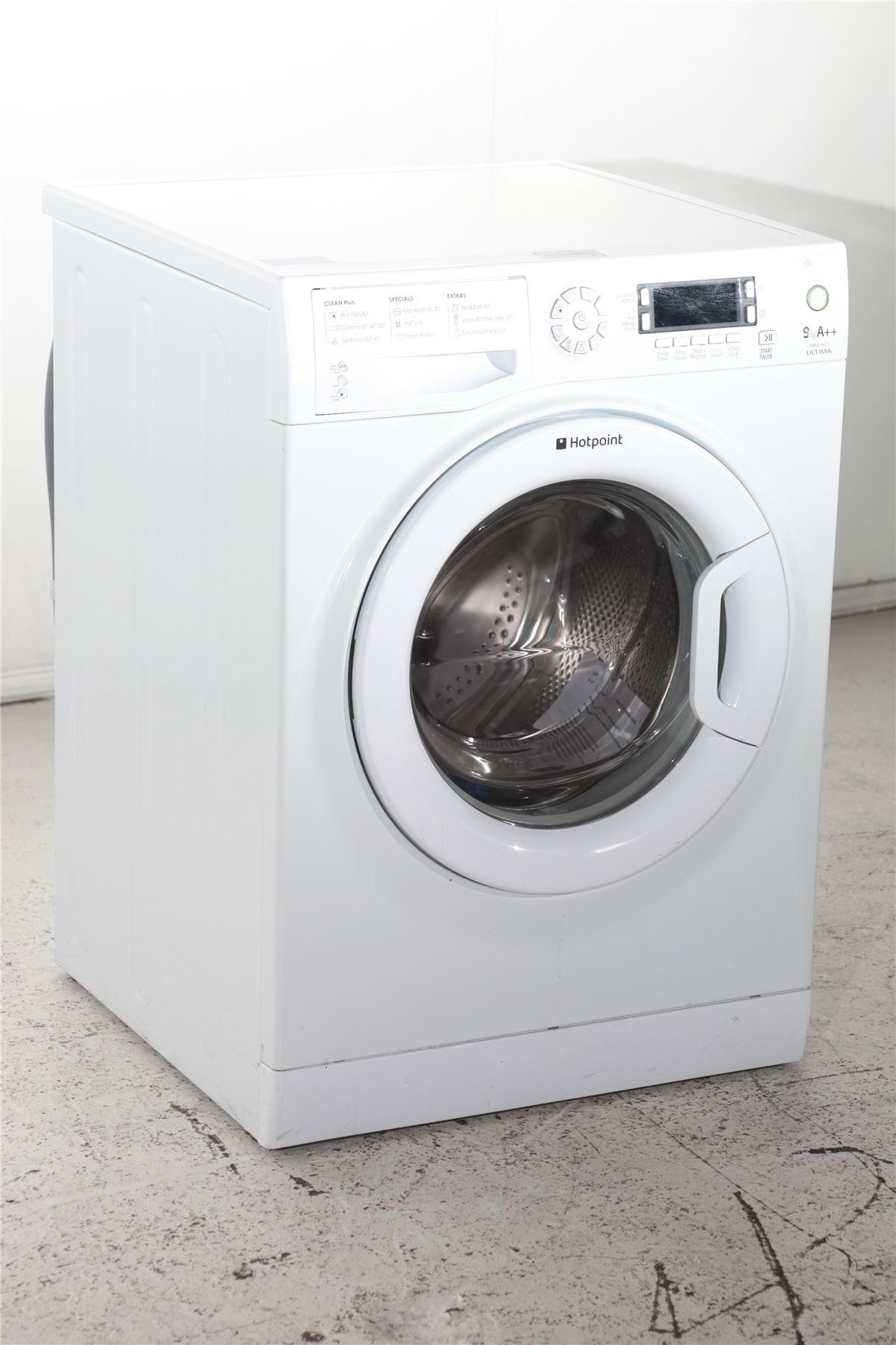 preloved hotpoint ultima 9kg washing machine wmud9627. Black Bedroom Furniture Sets. Home Design Ideas