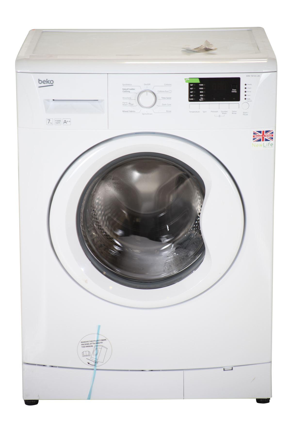 preloved beko 7kg 1500rpm washing machine wm74155lw. Black Bedroom Furniture Sets. Home Design Ideas